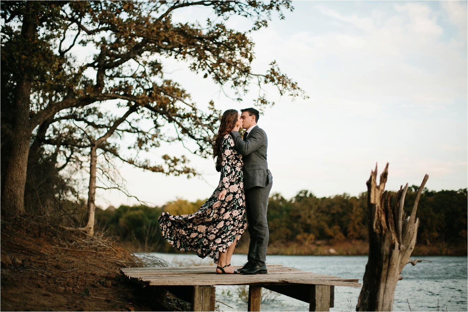 Aleta + Sabian __ a windy lakeside nature engagement session by North Texas Wedding Photographer Rachel Meagan Photography _39