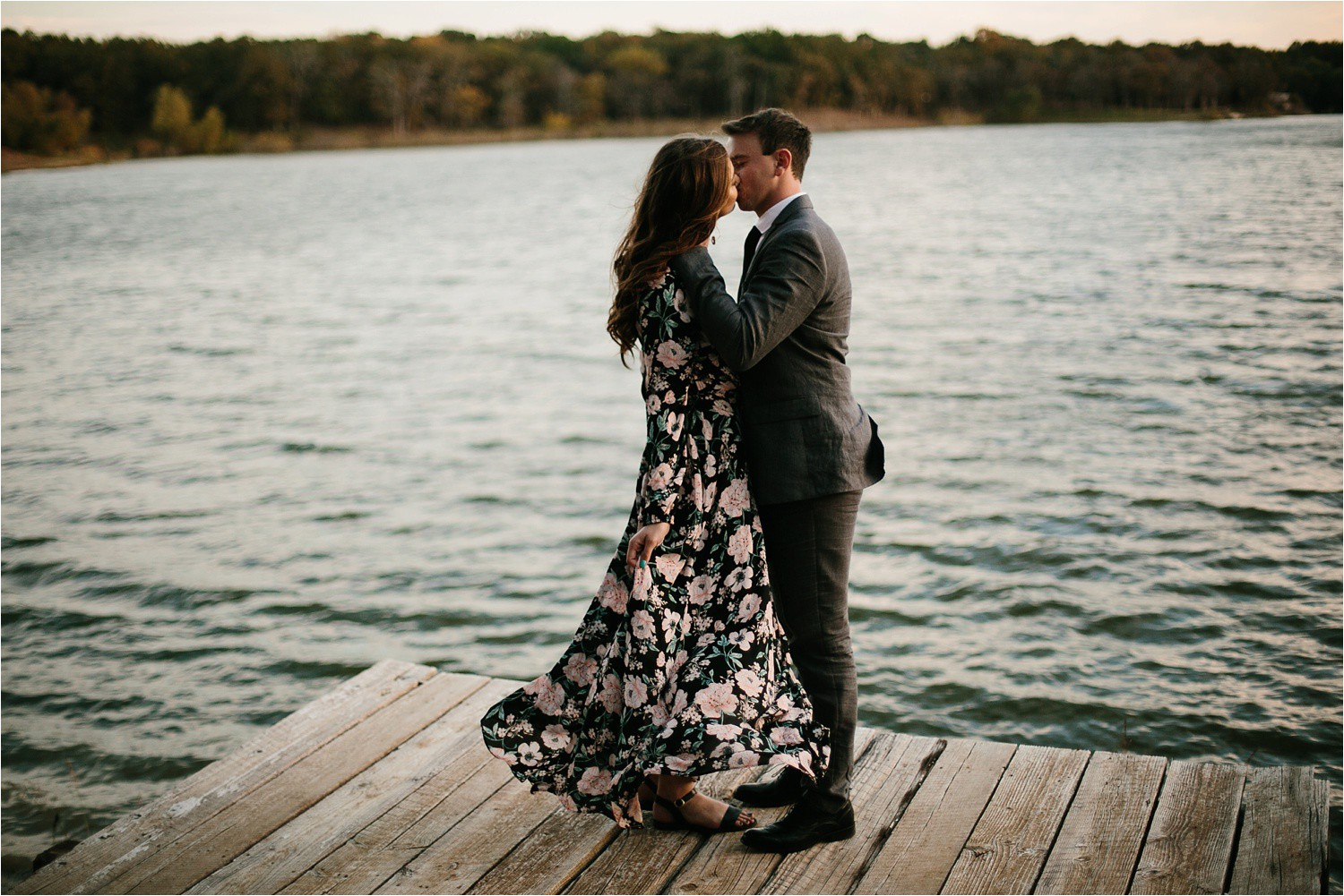 Aleta + Sabian __ a windy lakeside nature engagement session by North Texas Wedding Photographer Rachel Meagan Photography _40