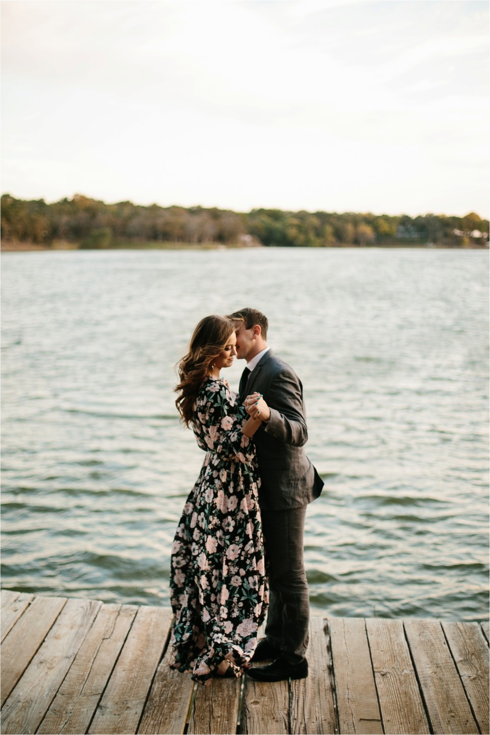 Aleta + Sabian __ a windy lakeside nature engagement session by North Texas Wedding Photographer Rachel Meagan Photography _42