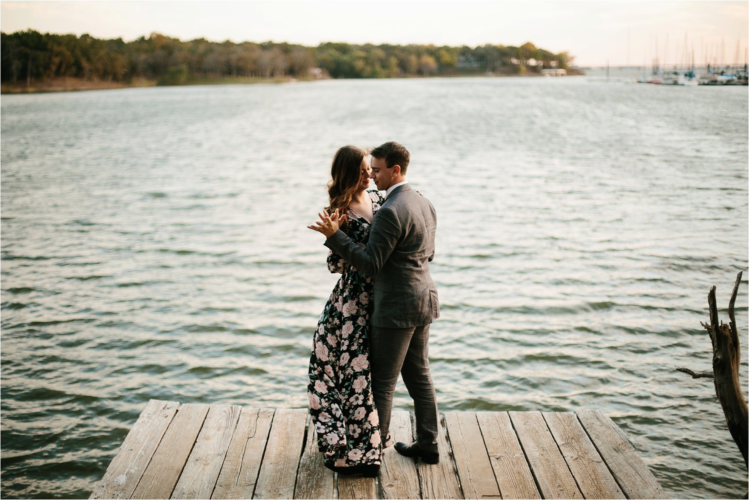 Aleta + Sabian __ a windy lakeside nature engagement session by North Texas Wedding Photographer Rachel Meagan Photography _43