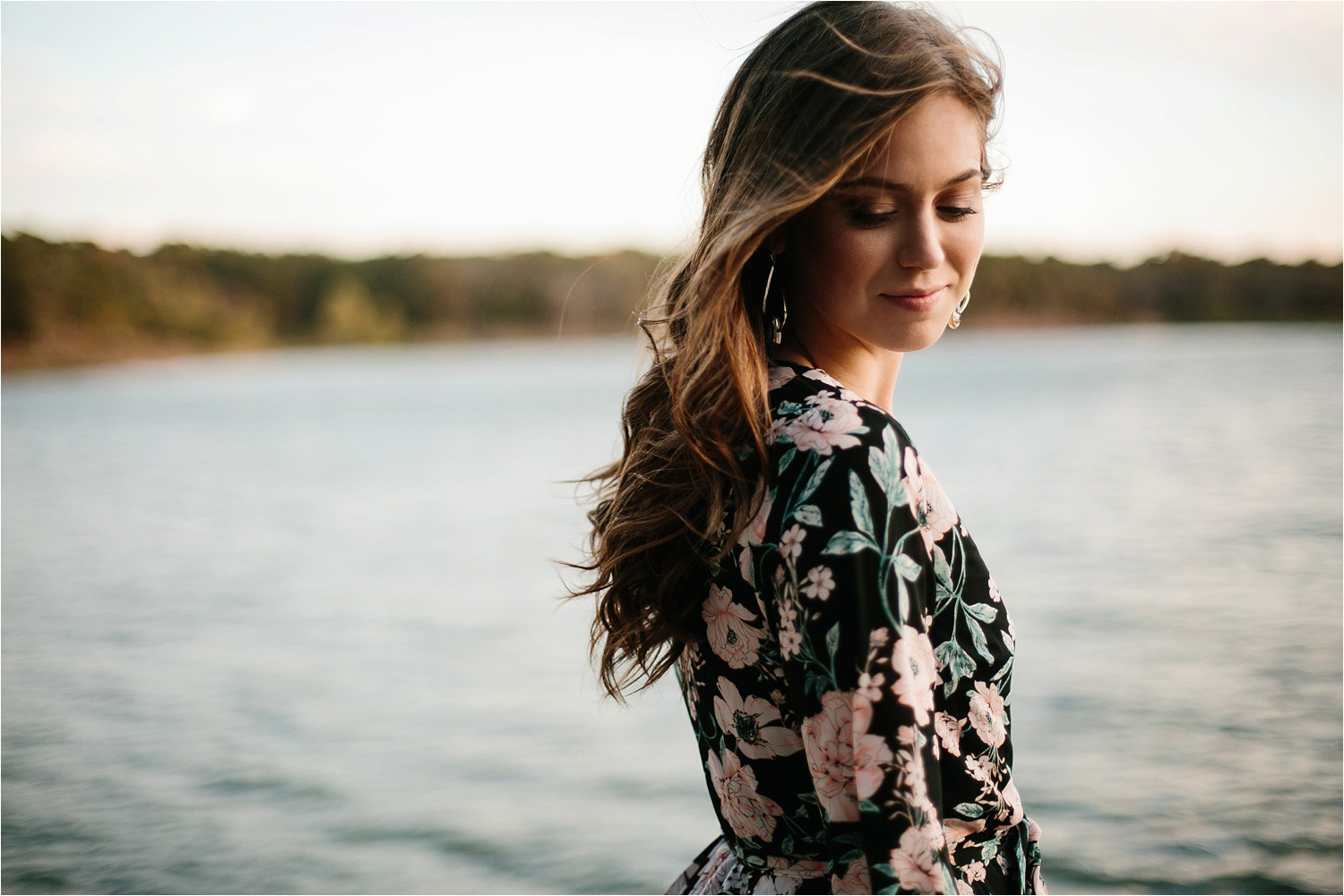 Aleta + Sabian __ a windy lakeside nature engagement session by North Texas Wedding Photographer Rachel Meagan Photography _47