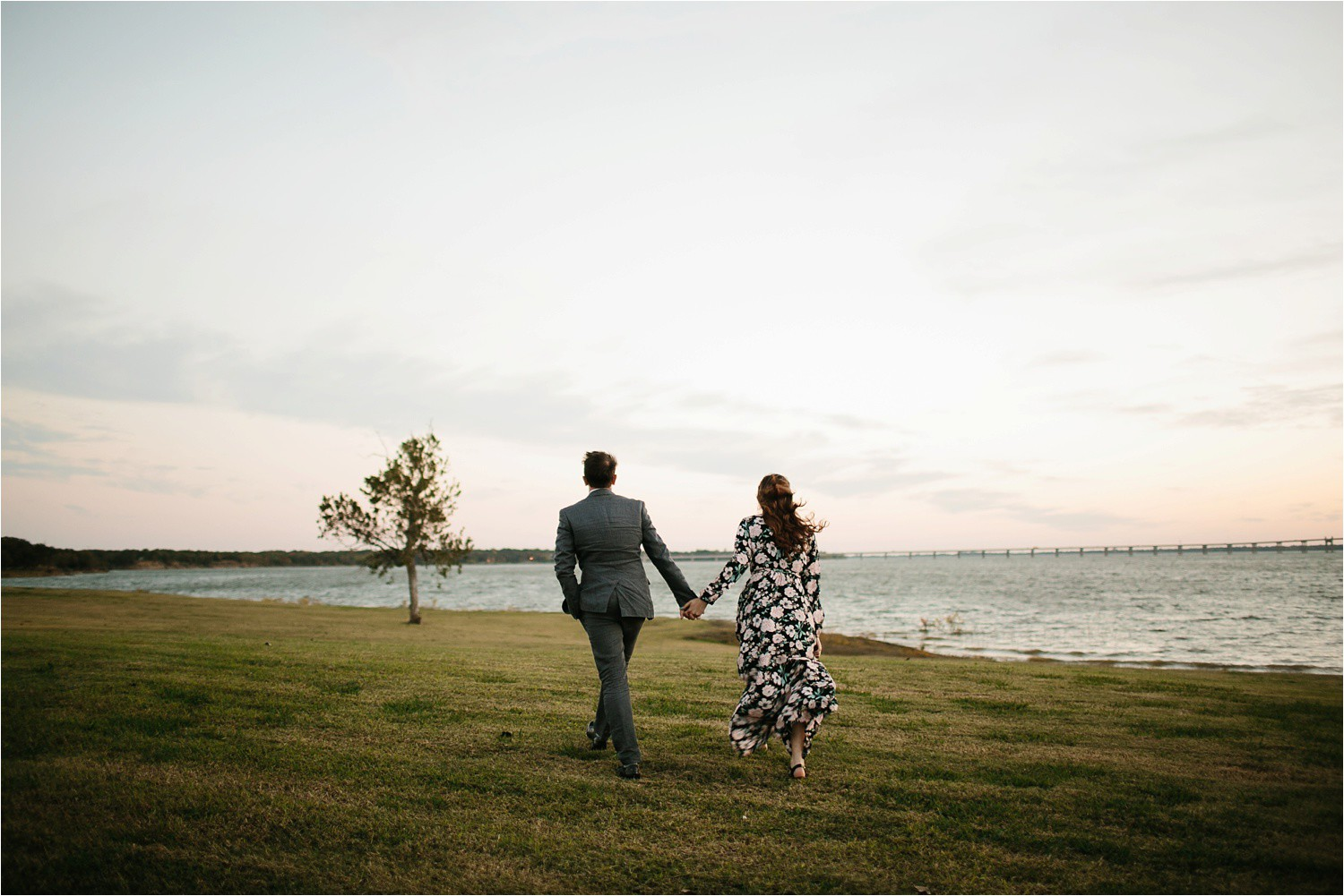 Aleta + Sabian __ a windy lakeside nature engagement session by North Texas Wedding Photographer Rachel Meagan Photography _53