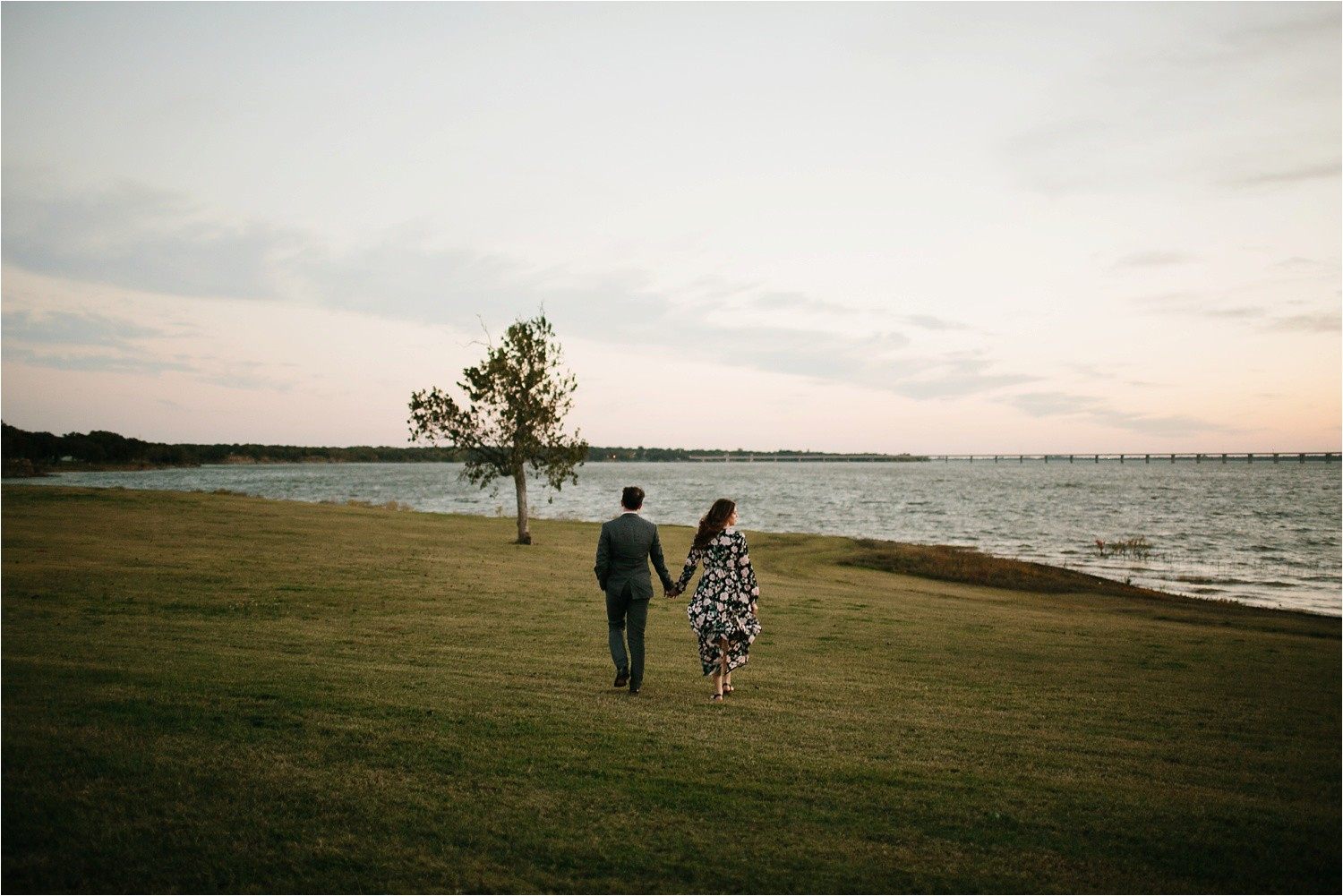 Aleta + Sabian __ a windy lakeside nature engagement session by North Texas Wedding Photographer Rachel Meagan Photography _54