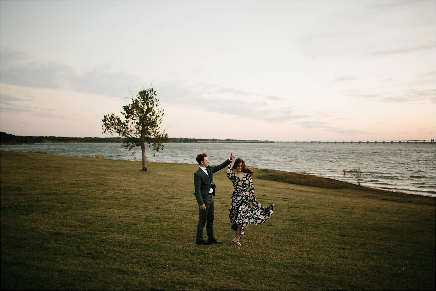 Aleta + Sabian __ a windy lakeside nature engagement session by North Texas Wedding Photographer Rachel Meagan Photography _55