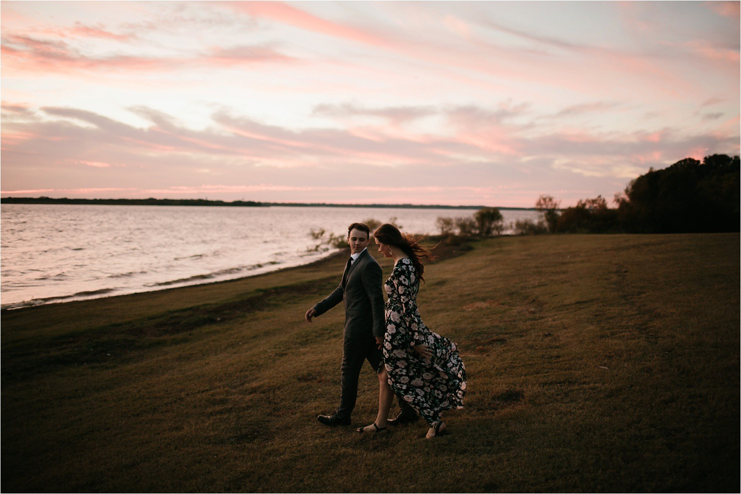 Aleta + Sabian __ a windy lakeside nature engagement session by North Texas Wedding Photographer Rachel Meagan Photography _58
