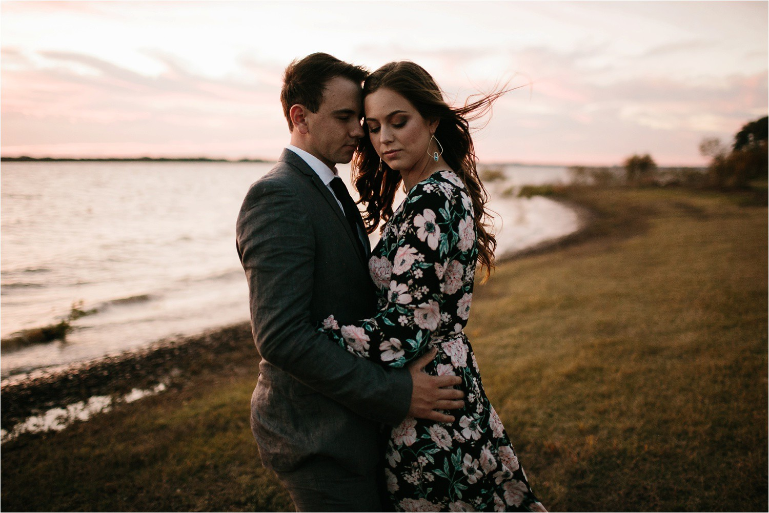 Aleta + Sabian __ a windy lakeside nature engagement session by North Texas Wedding Photographer Rachel Meagan Photography _64