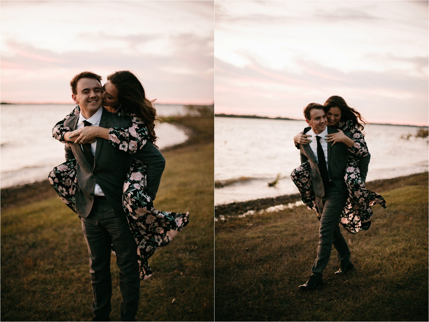 Aleta + Sabian __ a windy lakeside nature engagement session by North Texas Wedding Photographer Rachel Meagan Photography _66