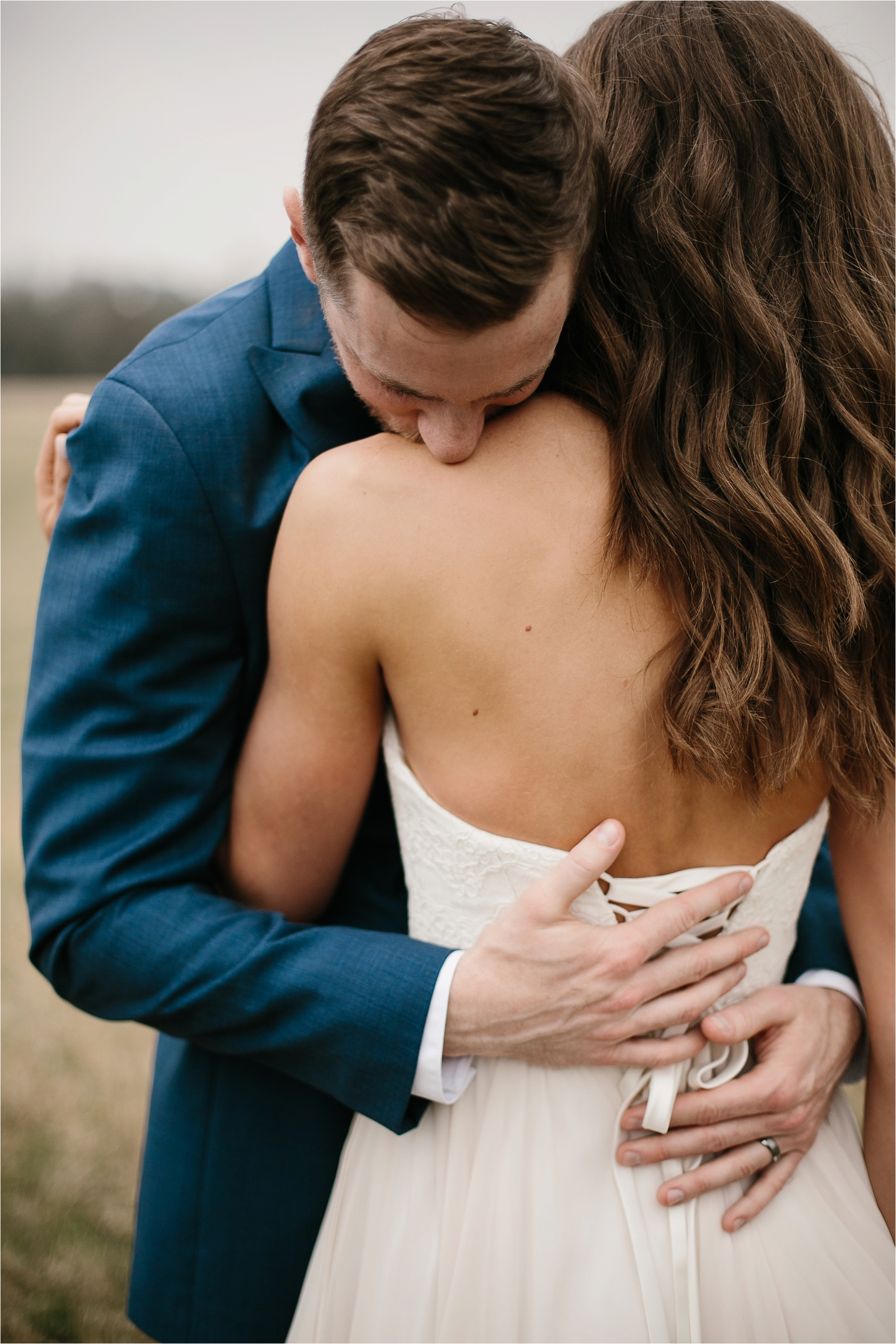 Lauren + Matt __ an intimate, emotional, blush pink, navy blue, and greenery toned wedding accents at the Brooks at Weatherford by North Texas Wedding Photographer Rachel Meagan Photography065
