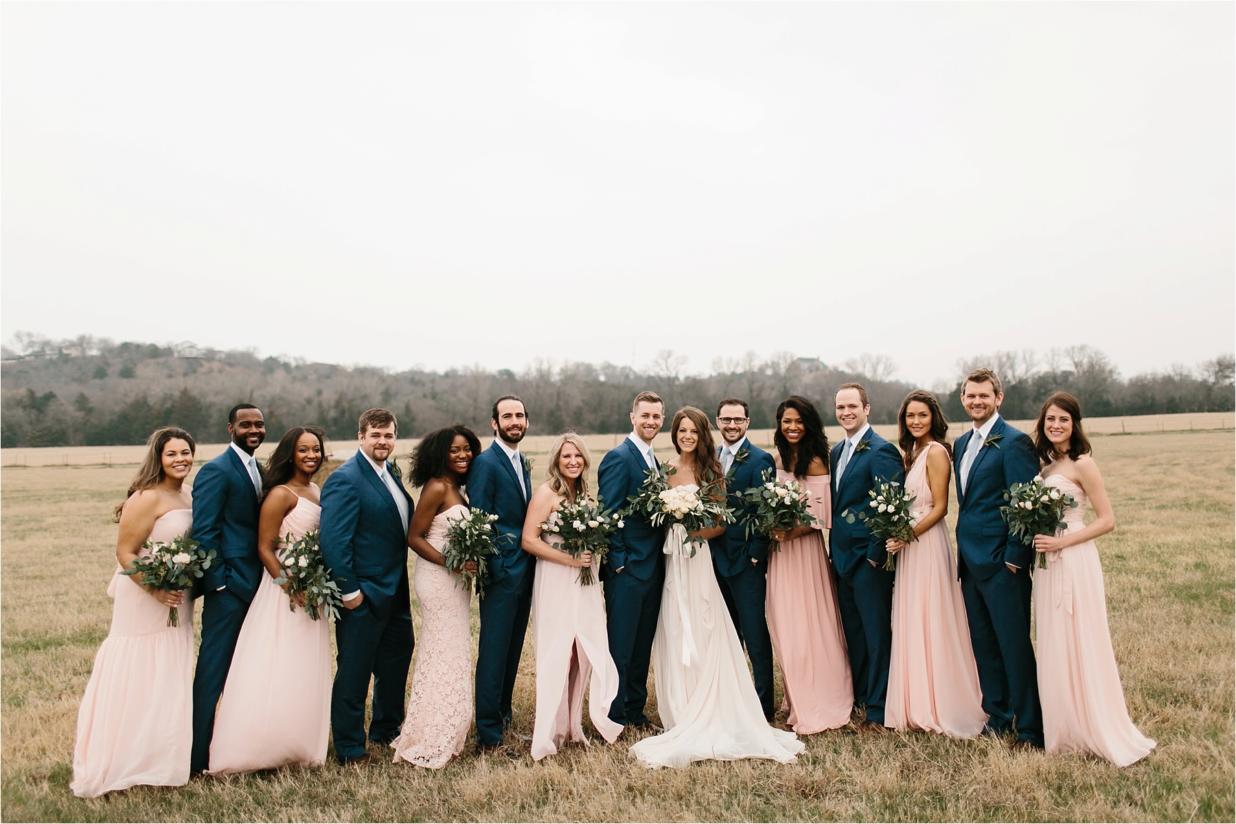Lauren + Matt __ an intimate, emotional, blush pink, navy blue, and greenery toned wedding accents at the Brooks at Weatherford by North Texas Wedding Photographer Rachel Meagan Photography088