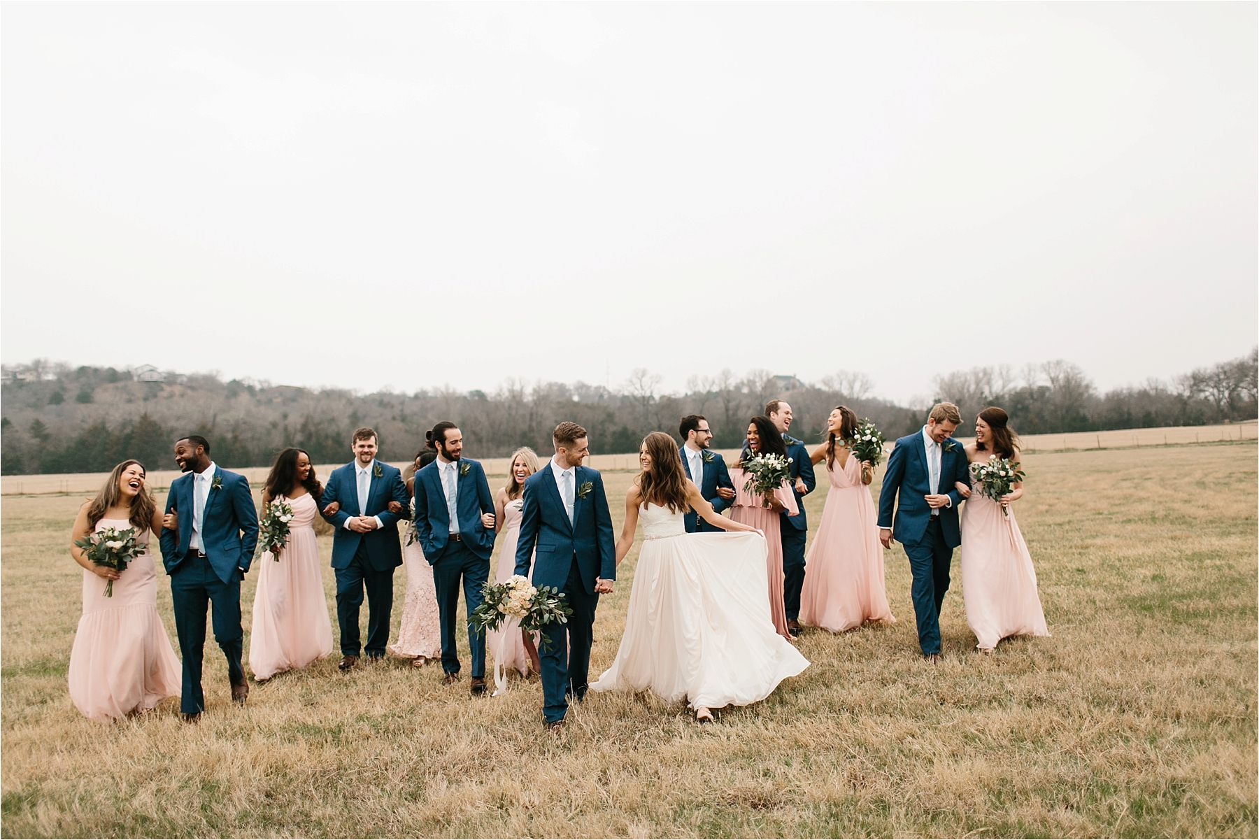 Lauren + Matt __ an intimate, emotional, blush pink, navy blue, and greenery toned wedding accents at the Brooks at Weatherford by North Texas Wedding Photographer Rachel Meagan Photography089