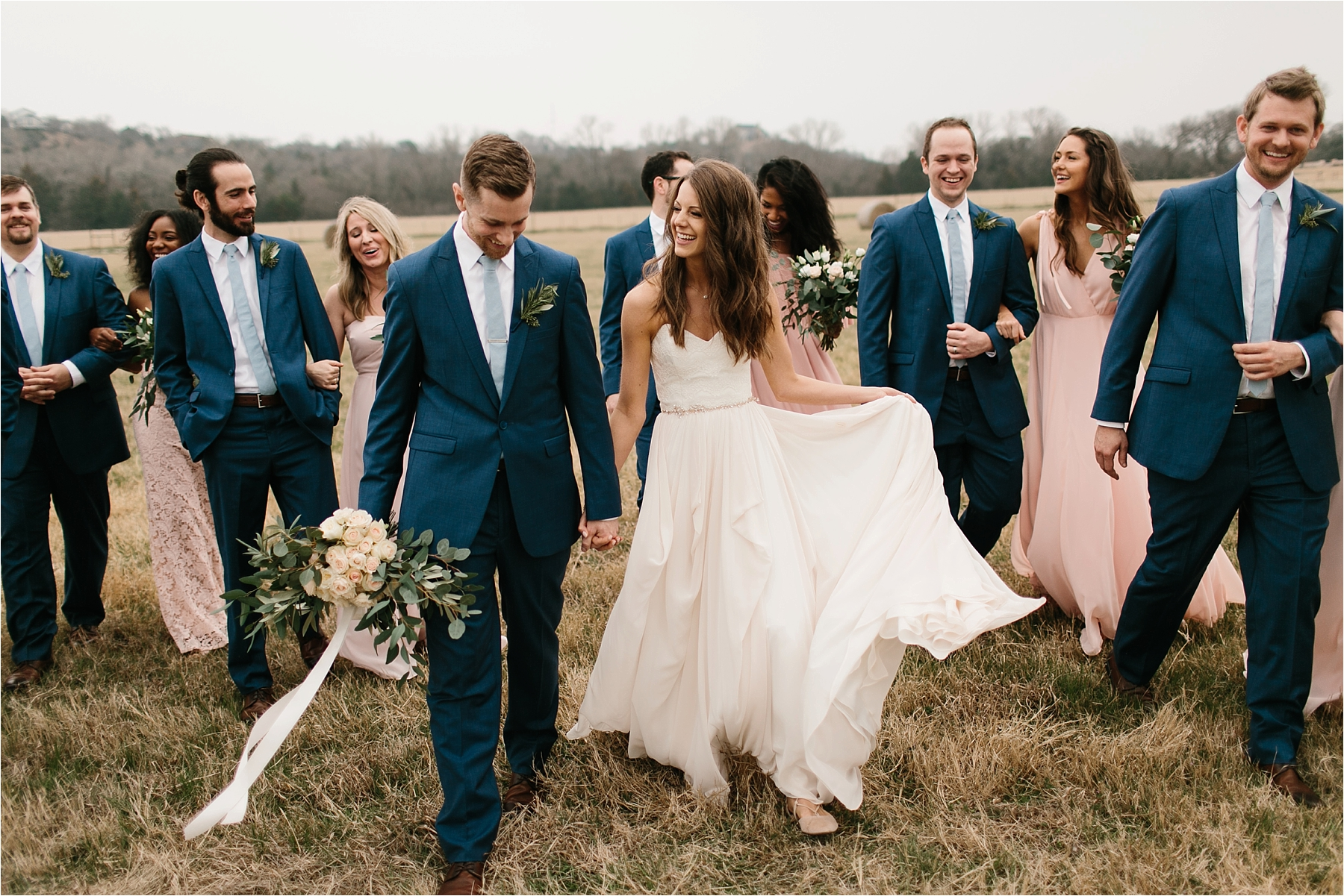 Lauren + Matt __ an intimate, emotional, blush pink, navy blue, and greenery toned wedding accents at the Brooks at Weatherford by North Texas Wedding Photographer Rachel Meagan Photography090