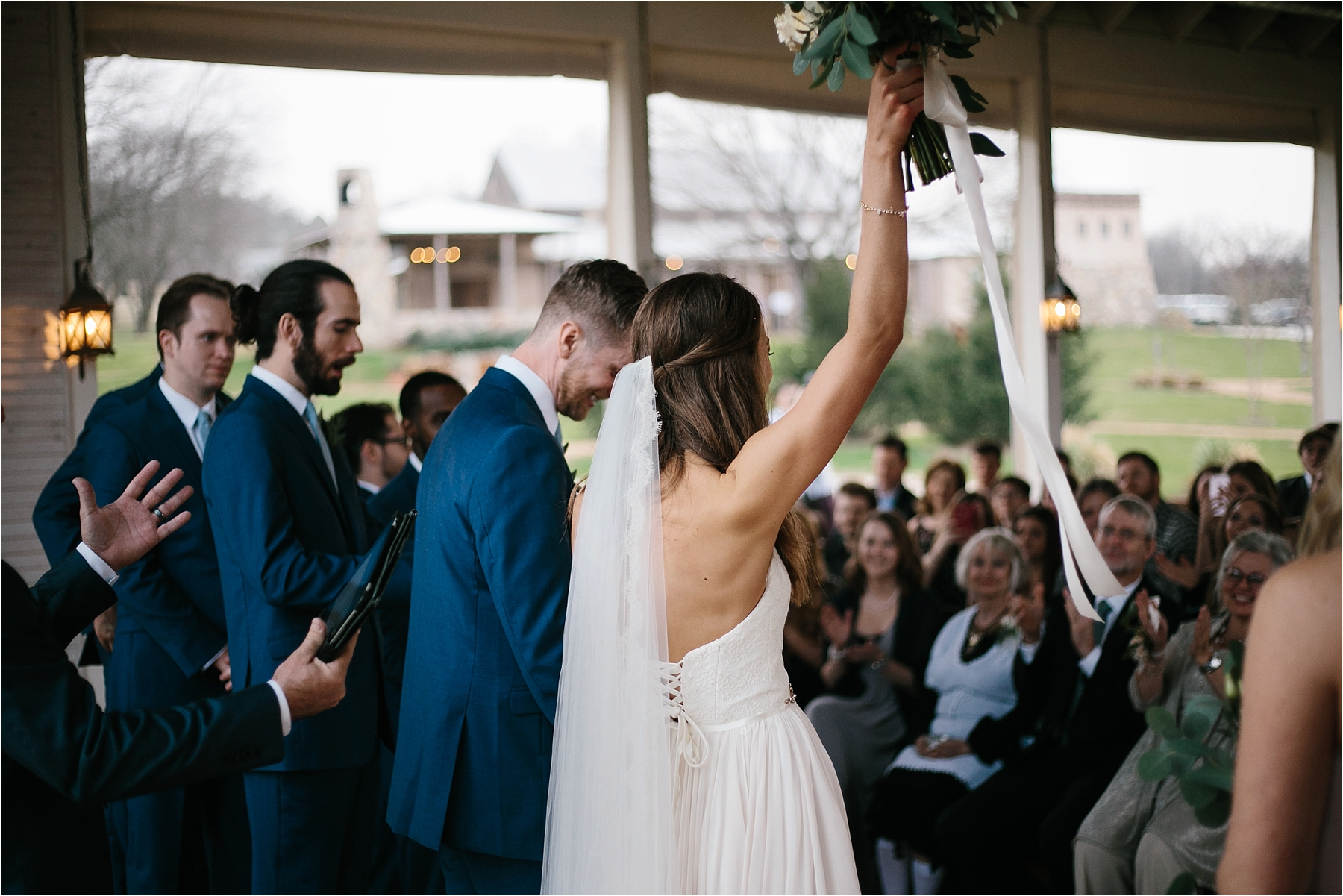 Lauren + Matt __ an intimate, emotional, blush pink, navy blue, and greenery toned wedding accents at the Brooks at Weatherford by North Texas Wedding Photographer Rachel Meagan Photography138