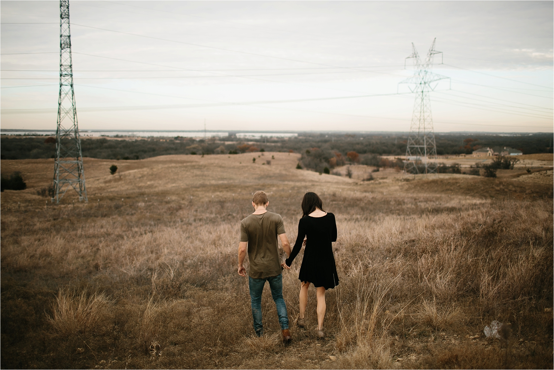 Trey + Phoebe __ a playful, intimate engagement session with dark_neutral outfit inspiration by North Texas Wedding Photographer Rachel Meagan Photography __ 01