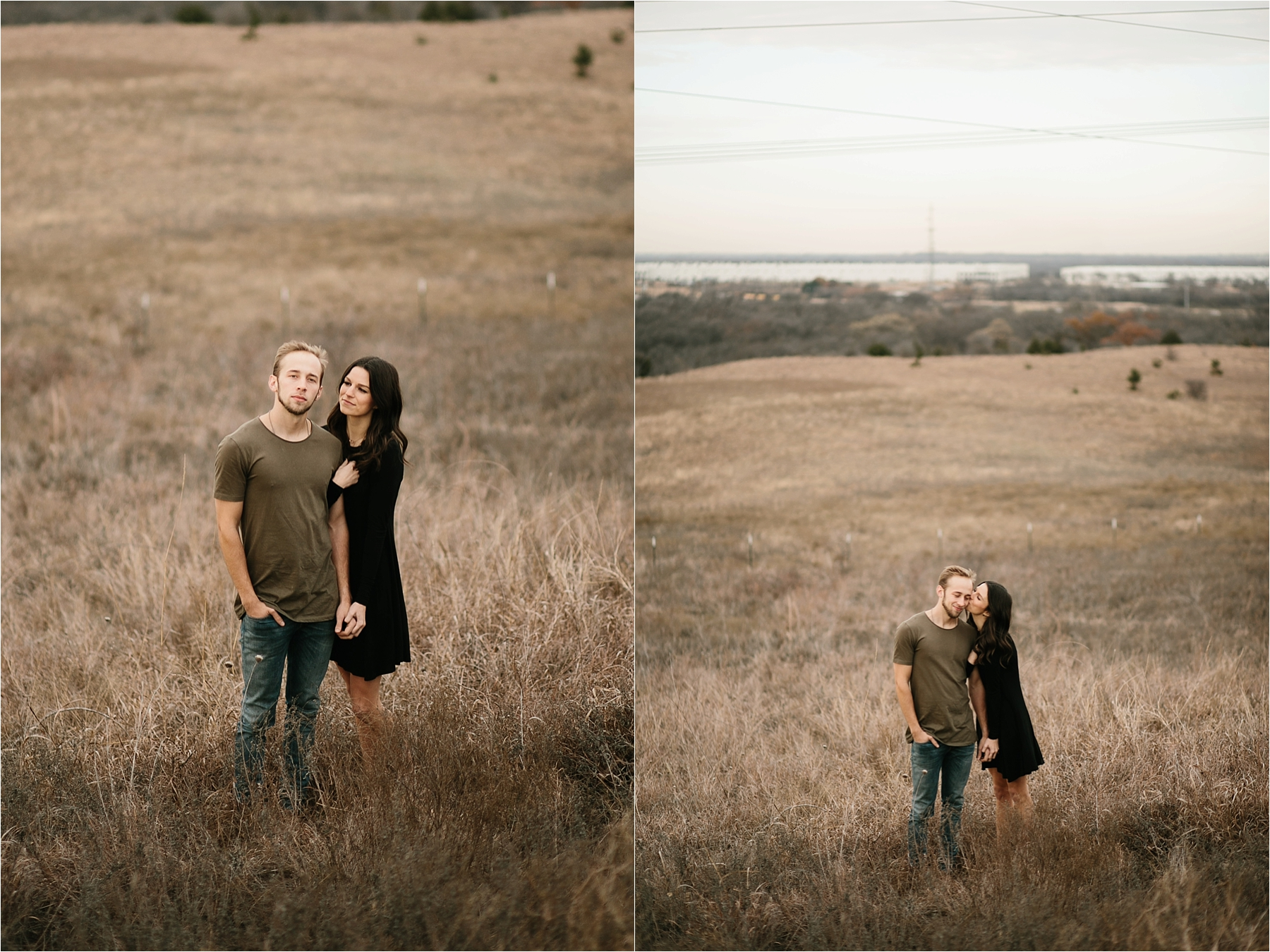 Trey + Phoebe __ a playful, intimate engagement session with dark_neutral outfit inspiration by North Texas Wedding Photographer Rachel Meagan Photography __ 03