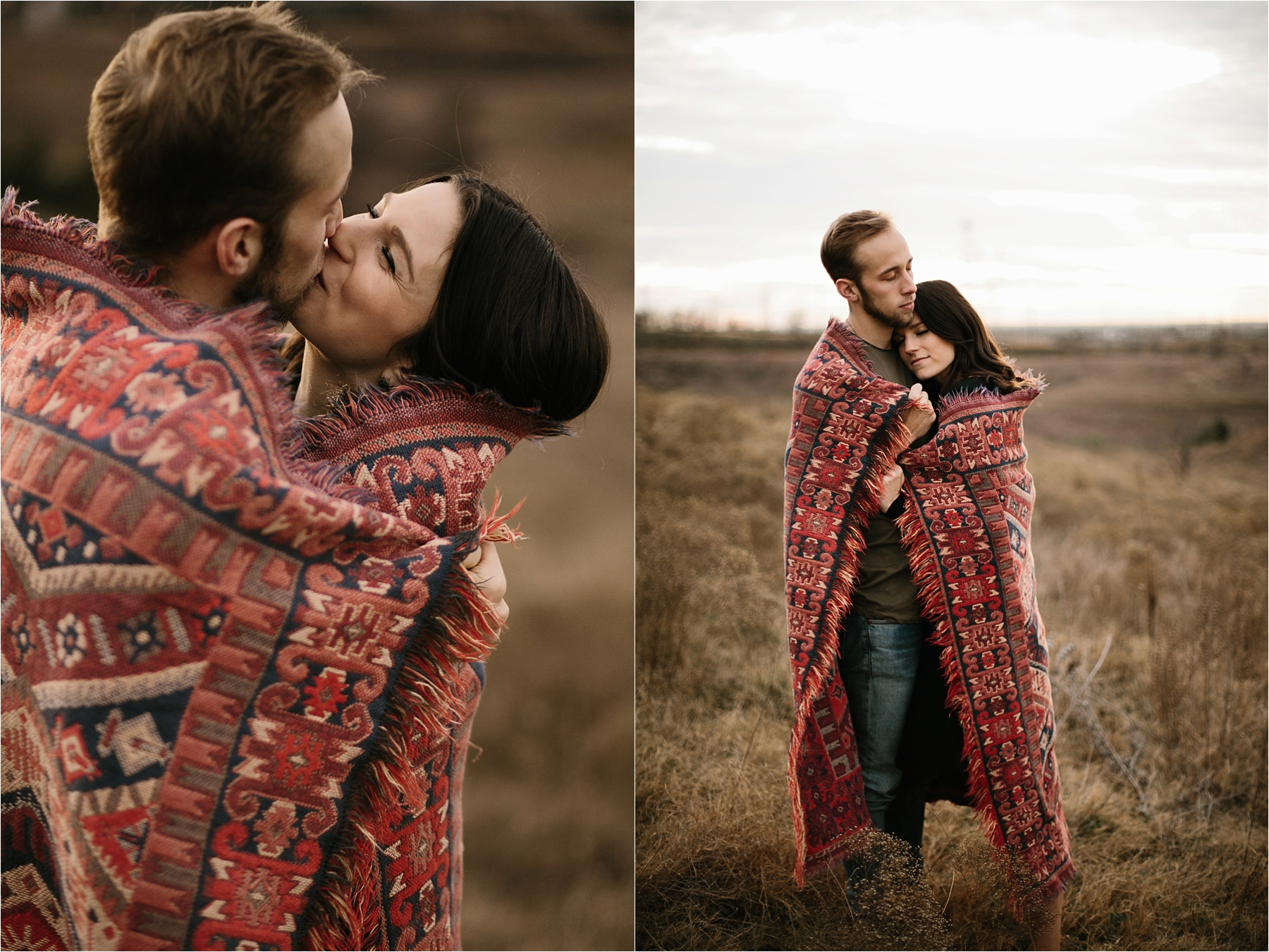 Trey + Phoebe __ a playful, intimate engagement session with dark_neutral outfit inspiration by North Texas Wedding Photographer Rachel Meagan Photography __ 11
