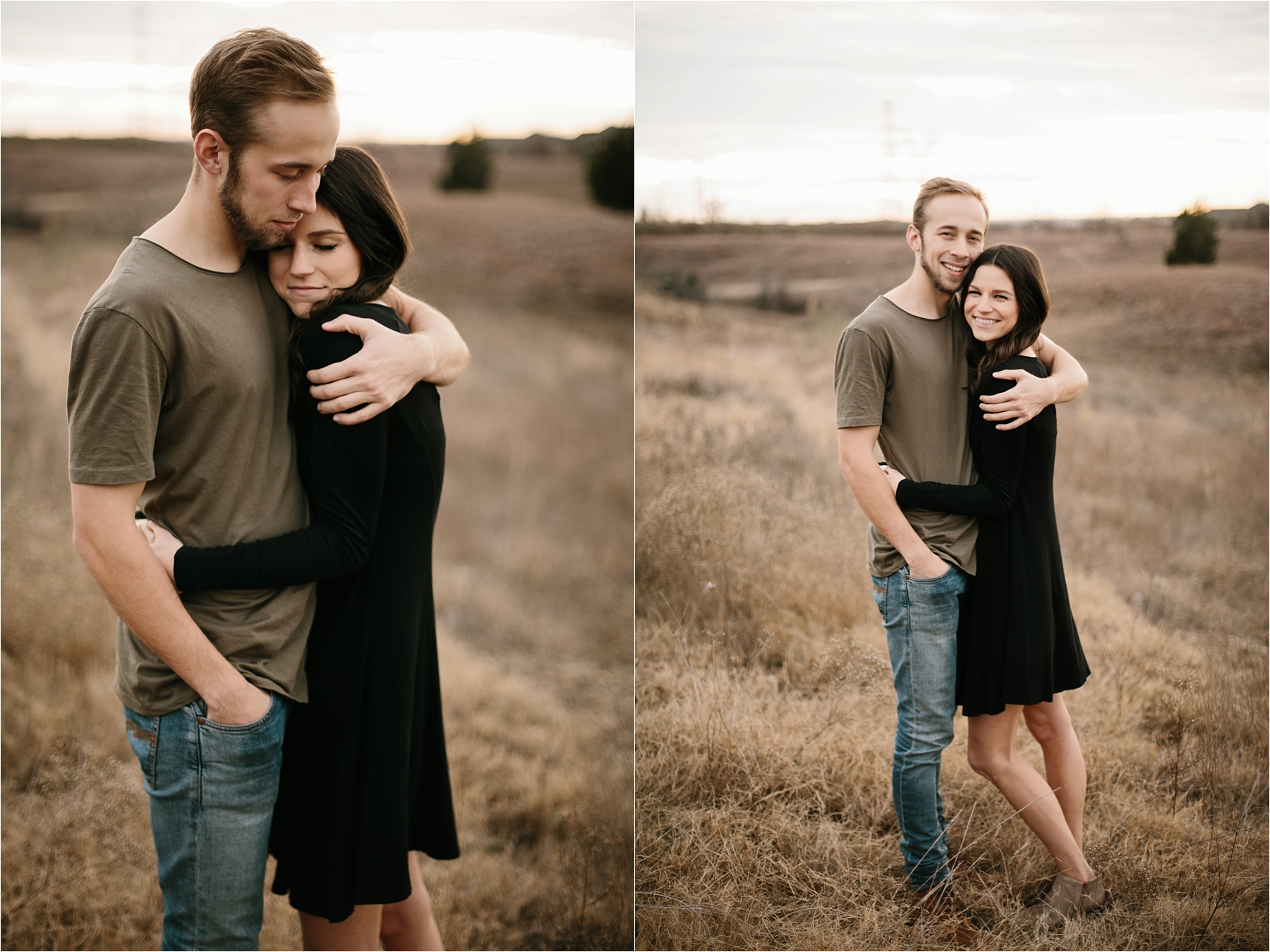 Trey + Phoebe __ a playful, intimate engagement session with dark_neutral outfit inspiration by North Texas Wedding Photographer Rachel Meagan Photography __ 18