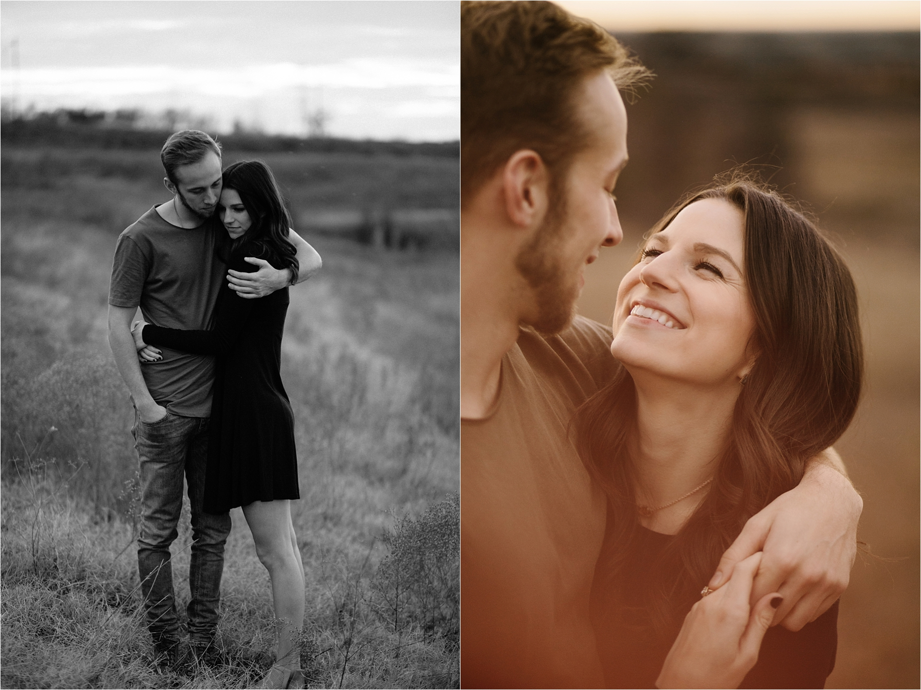 Trey + Phoebe __ a playful, intimate engagement session with dark_neutral outfit inspiration by North Texas Wedding Photographer Rachel Meagan Photography __ 21