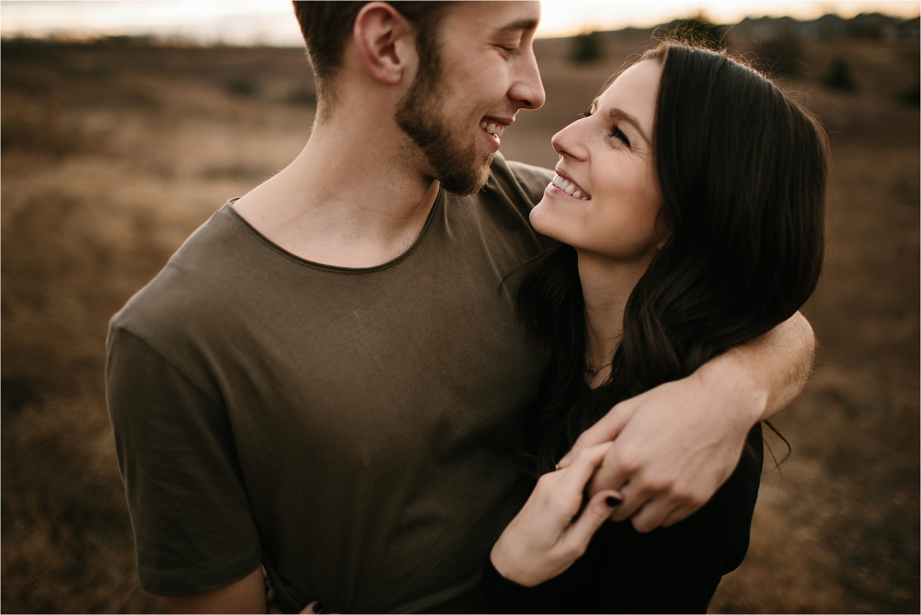 Trey + Phoebe __ a playful, intimate engagement session with dark_neutral outfit inspiration by North Texas Wedding Photographer Rachel Meagan Photography __ 24