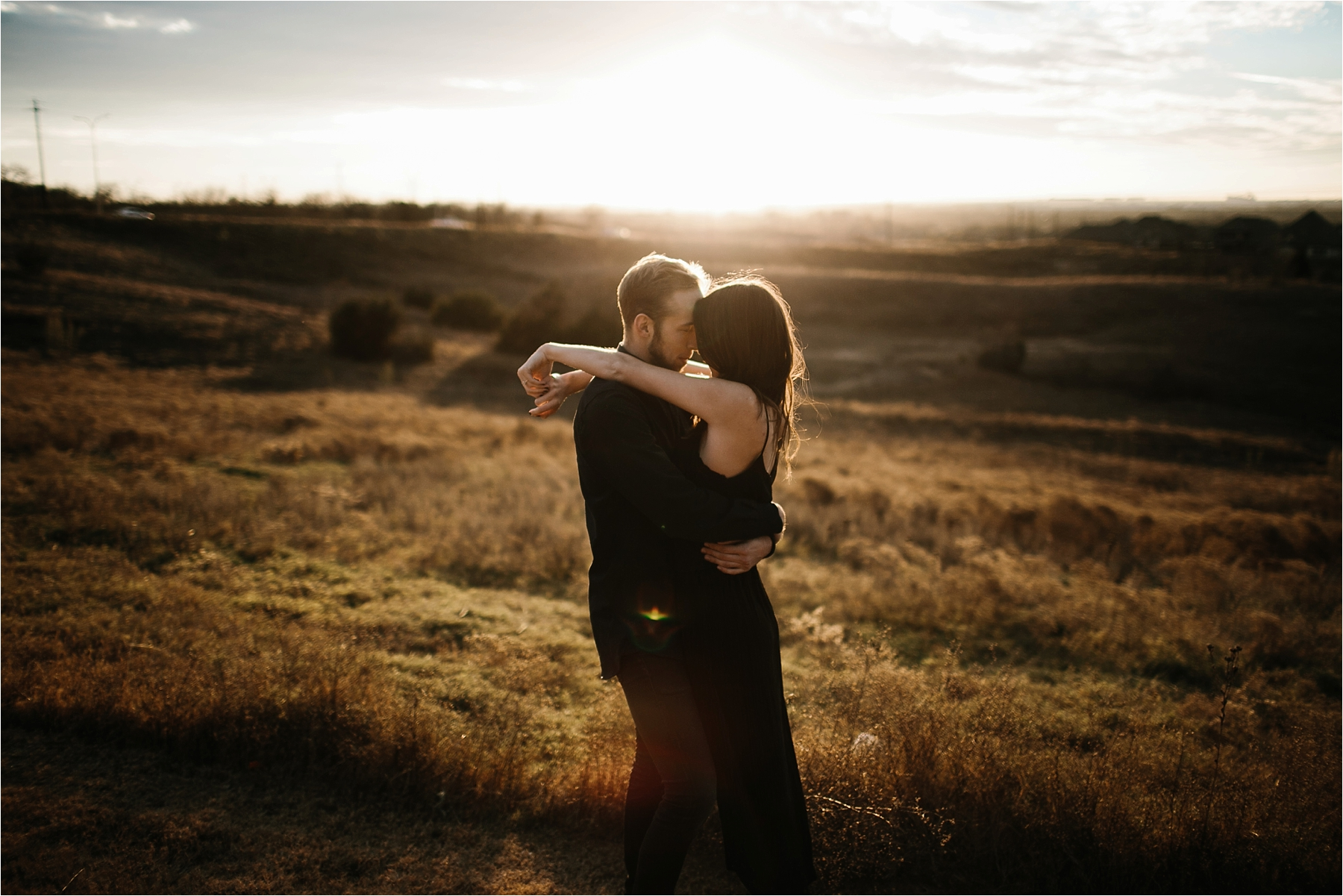 Trey + Phoebe __ a playful, intimate engagement session with dark_neutral outfit inspiration by North Texas Wedding Photographer Rachel Meagan Photography __ 27