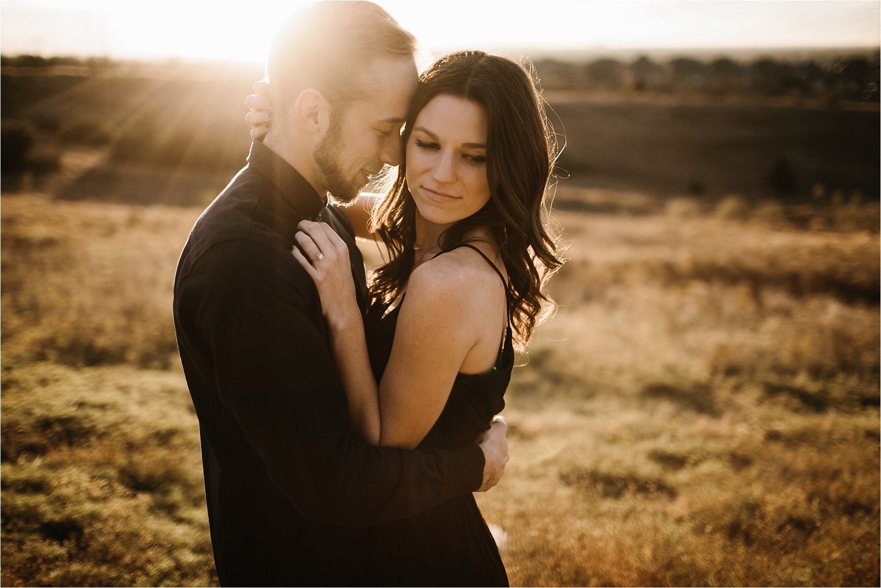 Trey + Phoebe __ a playful, intimate engagement session with dark_neutral outfit inspiration by North Texas Wedding Photographer Rachel Meagan Photography __ 31