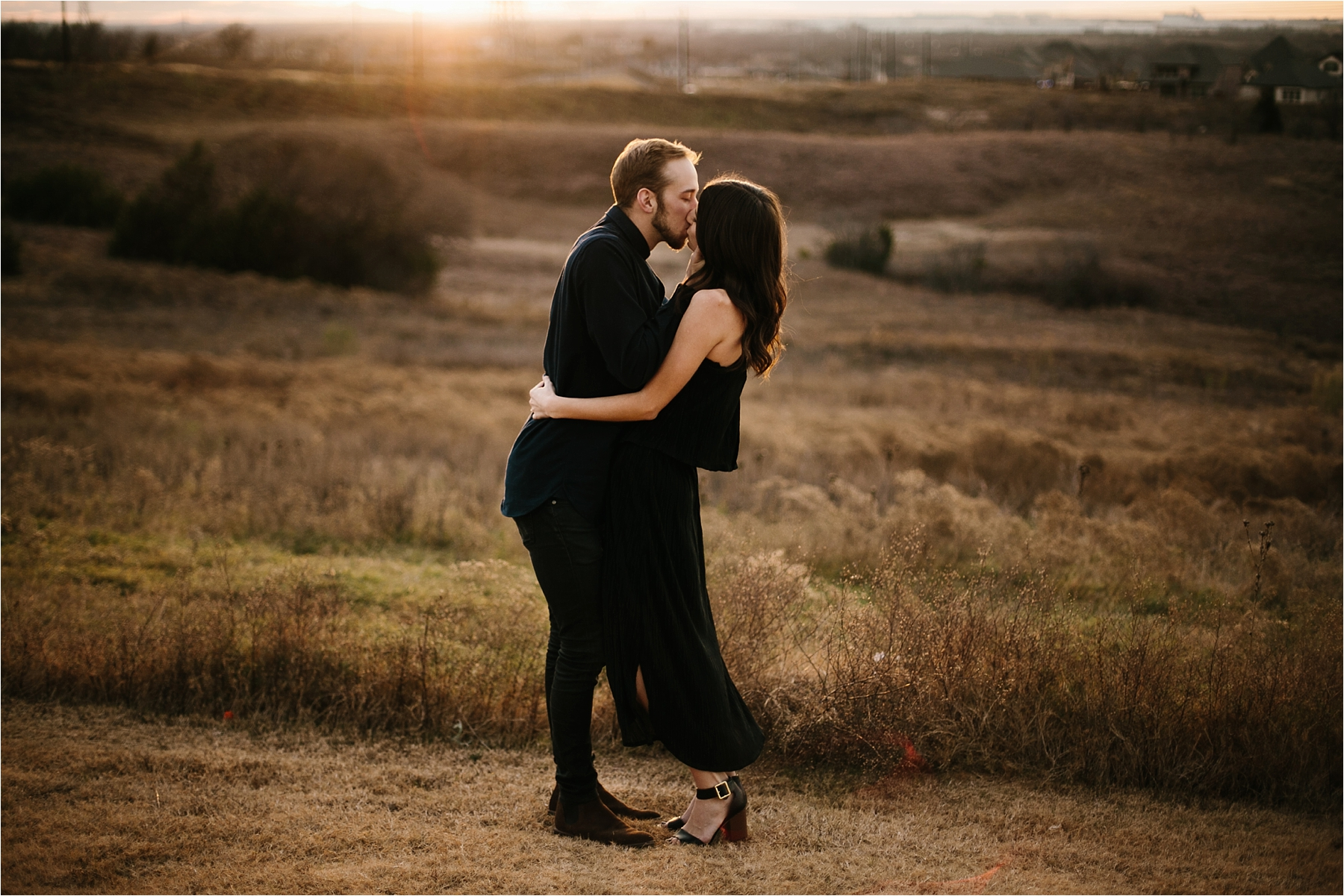 Trey + Phoebe __ a playful, intimate engagement session with dark_neutral outfit inspiration by North Texas Wedding Photographer Rachel Meagan Photography __ 32
