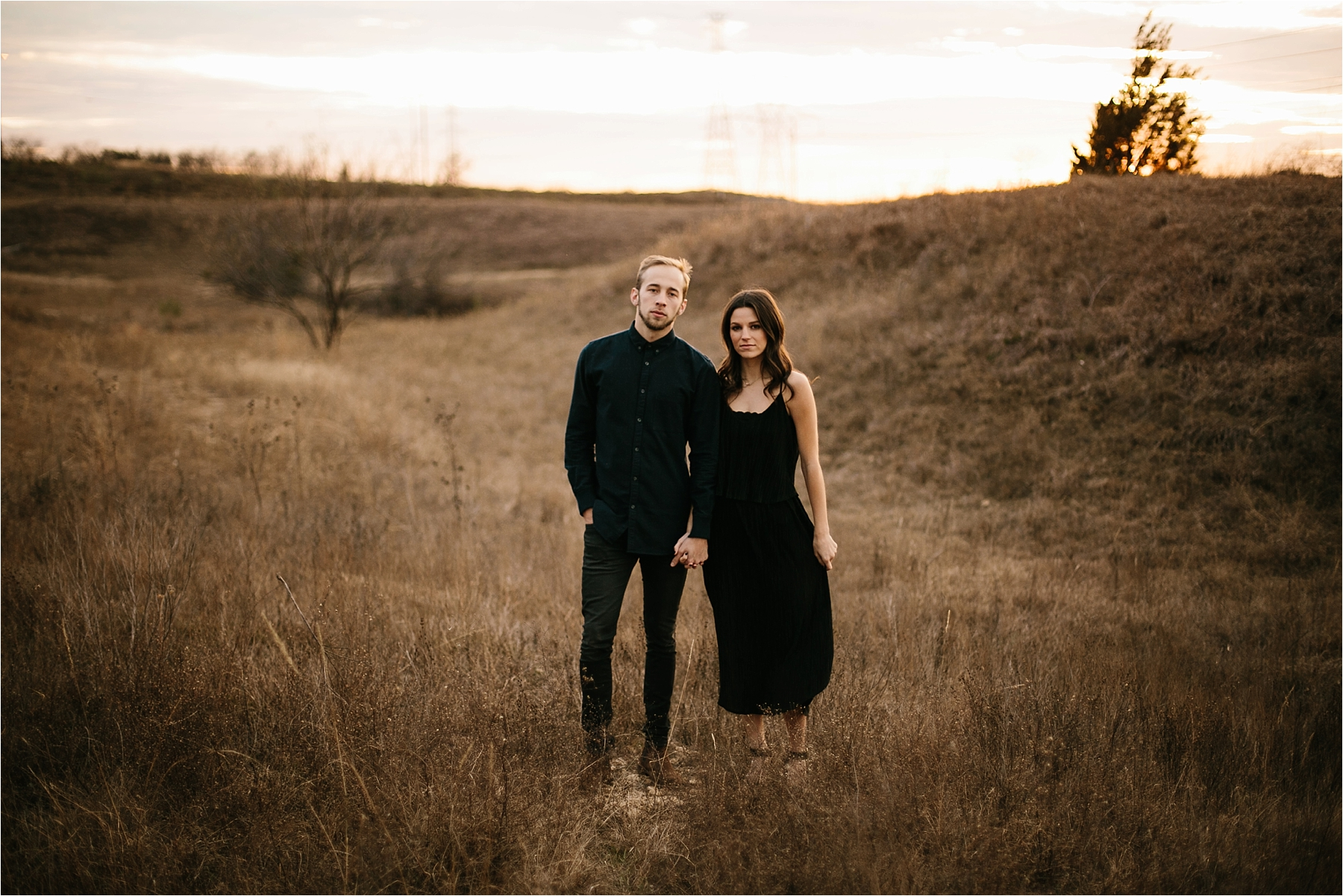 Trey + Phoebe __ a playful, intimate engagement session with dark_neutral outfit inspiration by North Texas Wedding Photographer Rachel Meagan Photography __ 37