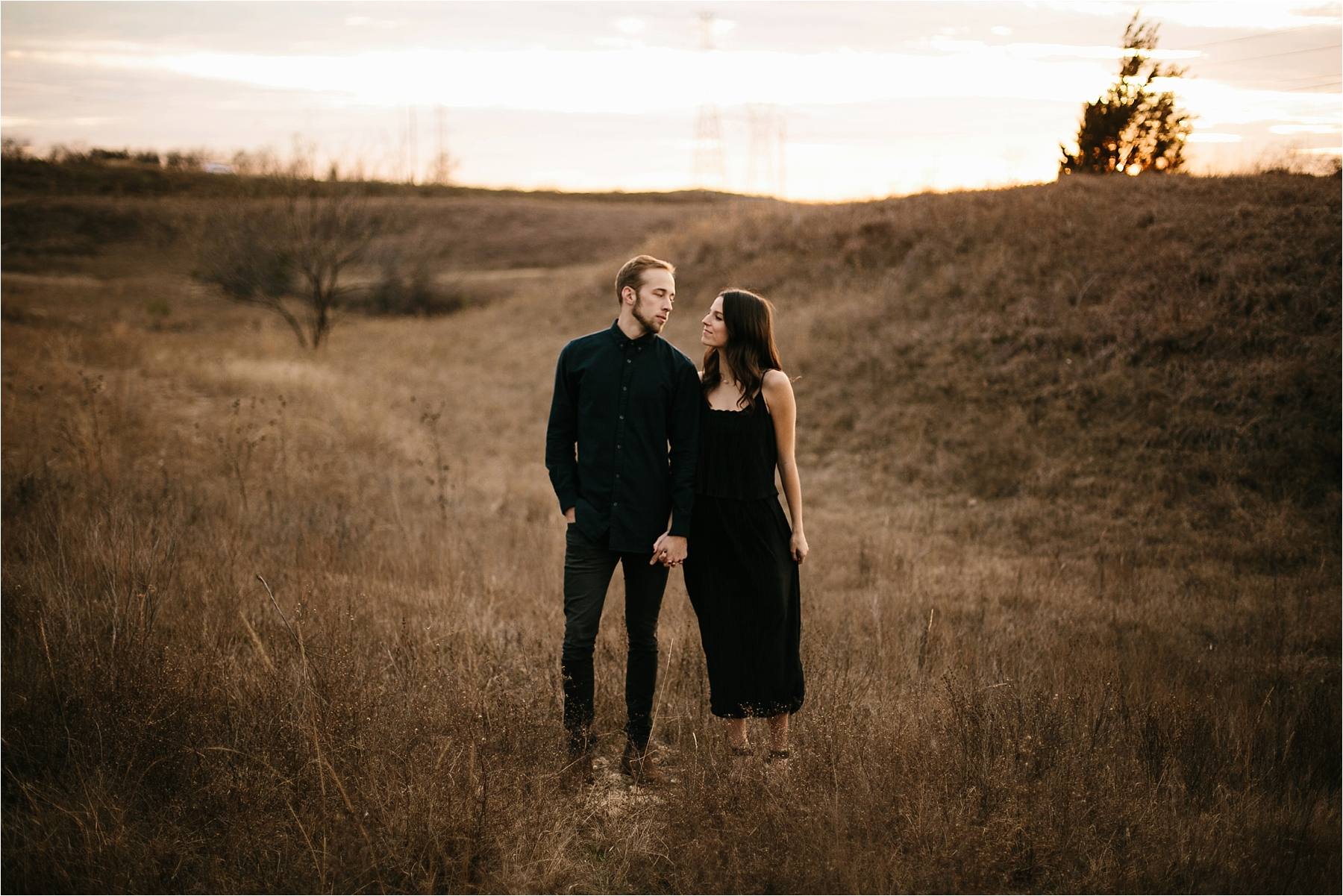 Trey + Phoebe __ a playful, intimate engagement session with dark_neutral outfit inspiration by North Texas Wedding Photographer Rachel Meagan Photography __ 38