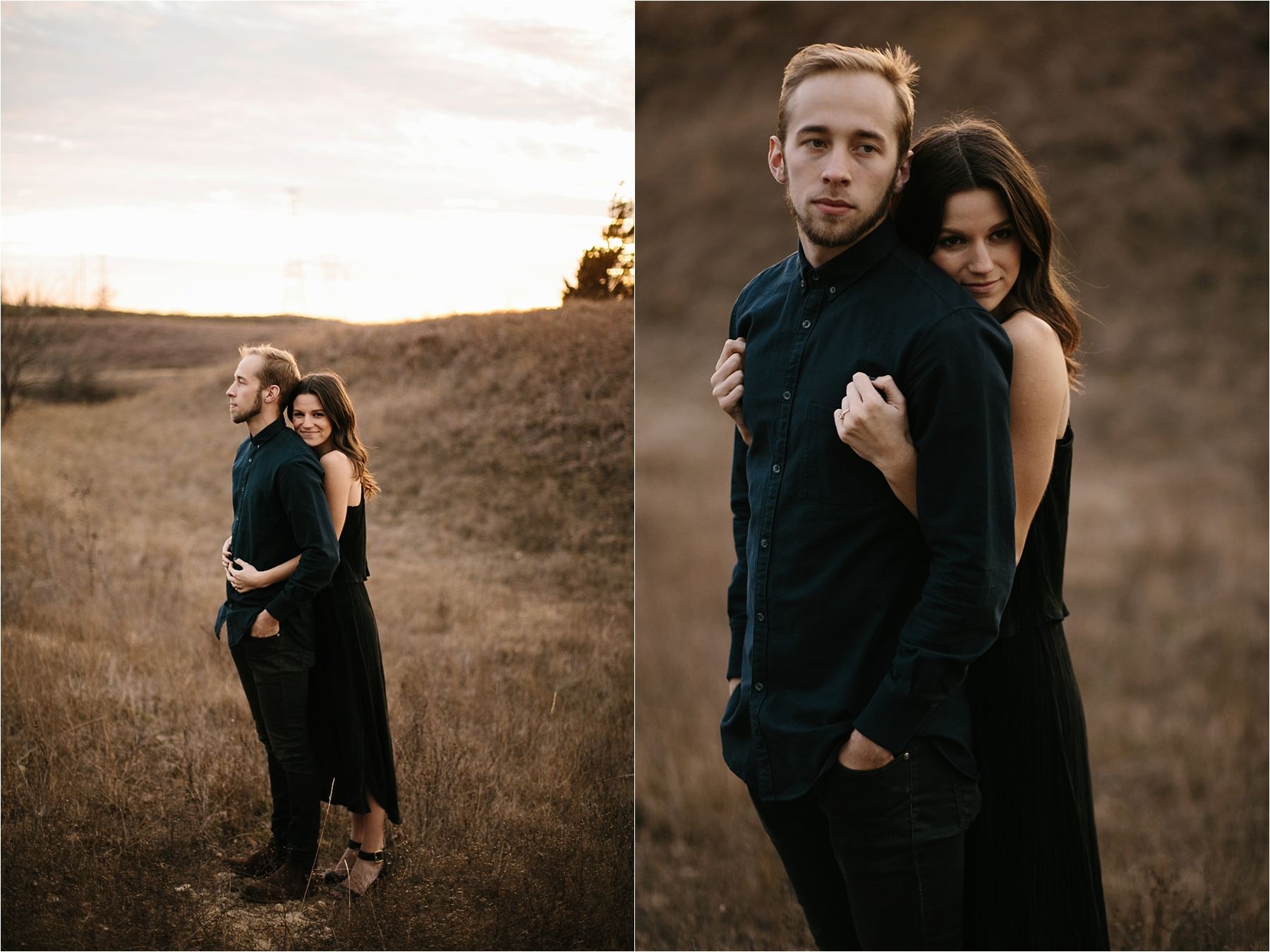 Trey + Phoebe __ a playful, intimate engagement session with dark_neutral outfit inspiration by North Texas Wedding Photographer Rachel Meagan Photography __ 39