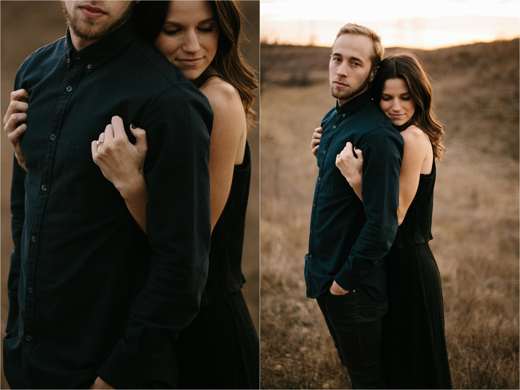 Trey + Phoebe __ a playful, intimate engagement session with dark_neutral outfit inspiration by North Texas Wedding Photographer Rachel Meagan Photography __ 40