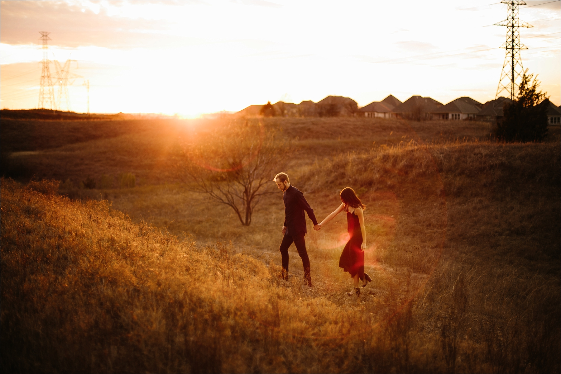 Trey + Phoebe __ a playful, intimate engagement session with dark_neutral outfit inspiration by North Texas Wedding Photographer Rachel Meagan Photography __ 42