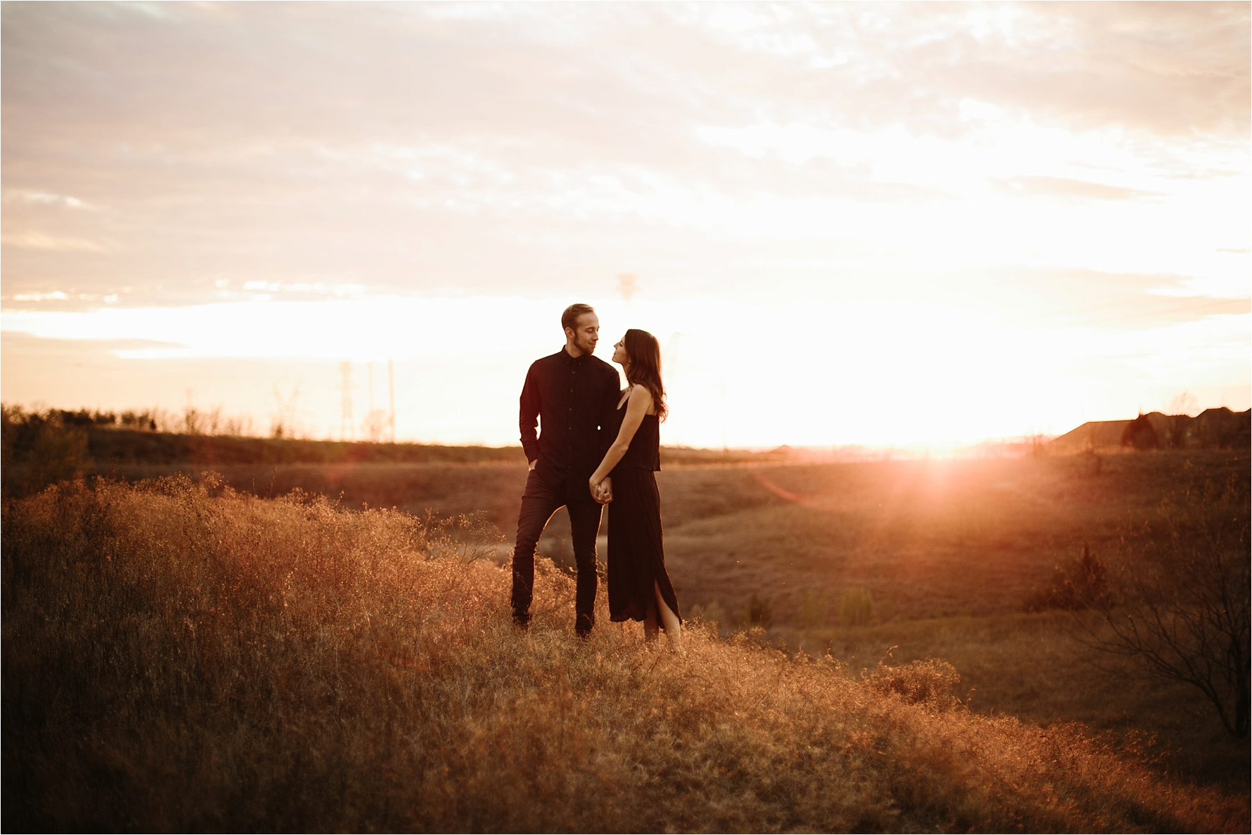 Trey + Phoebe __ a playful, intimate engagement session with dark_neutral outfit inspiration by North Texas Wedding Photographer Rachel Meagan Photography __ 43