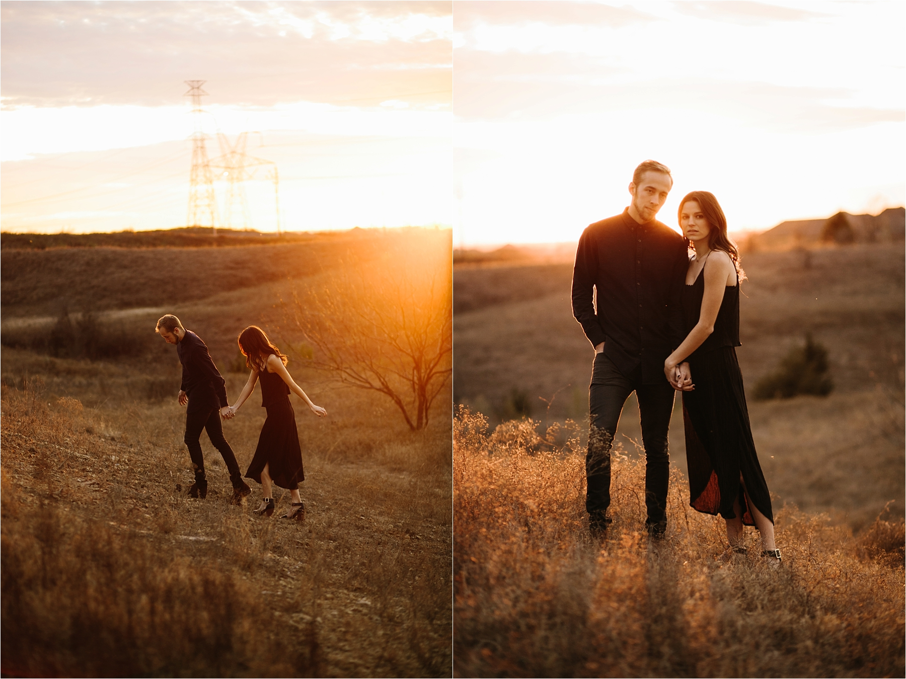 Trey + Phoebe __ a playful, intimate engagement session with dark_neutral outfit inspiration by North Texas Wedding Photographer Rachel Meagan Photography __ 44