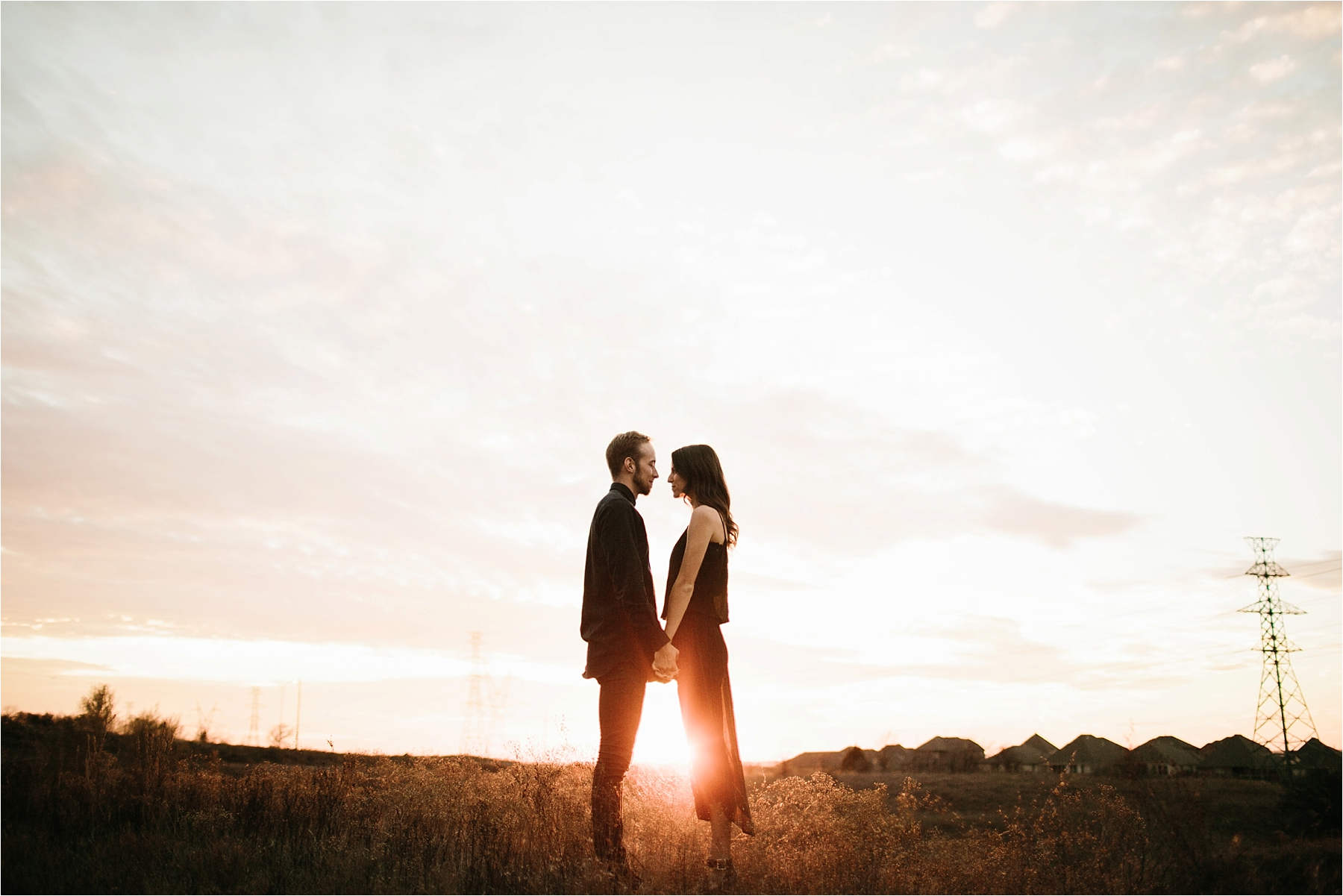 Trey + Phoebe __ a playful, intimate engagement session with dark_neutral outfit inspiration by North Texas Wedding Photographer Rachel Meagan Photography __ 48