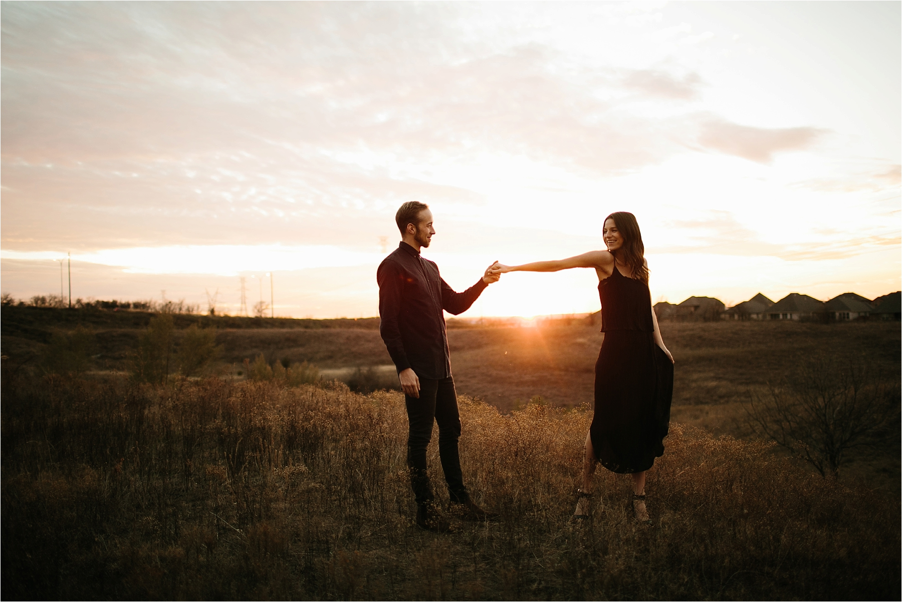 Trey + Phoebe __ a playful, intimate engagement session with dark_neutral outfit inspiration by North Texas Wedding Photographer Rachel Meagan Photography __ 51
