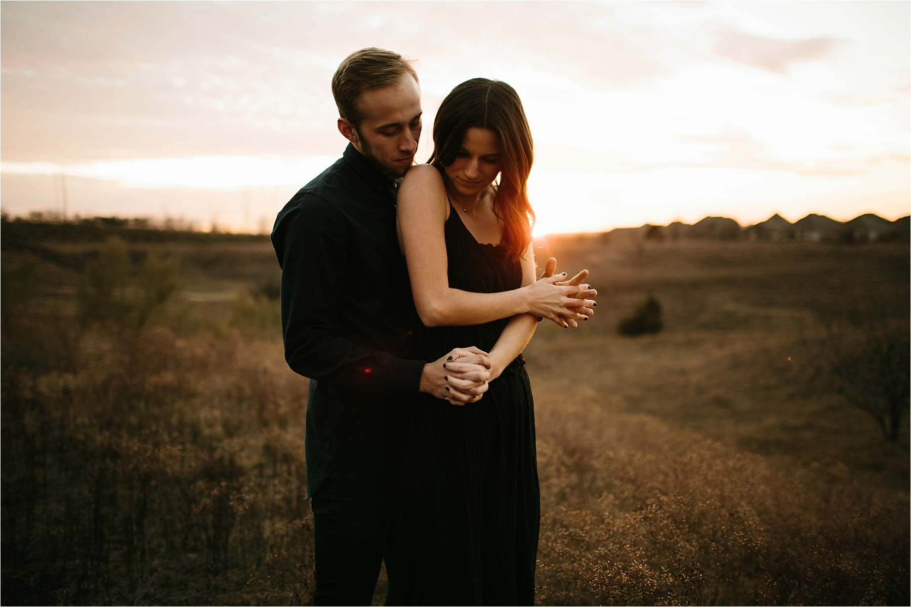 Trey + Phoebe __ a playful, intimate engagement session with dark_neutral outfit inspiration by North Texas Wedding Photographer Rachel Meagan Photography __ 55