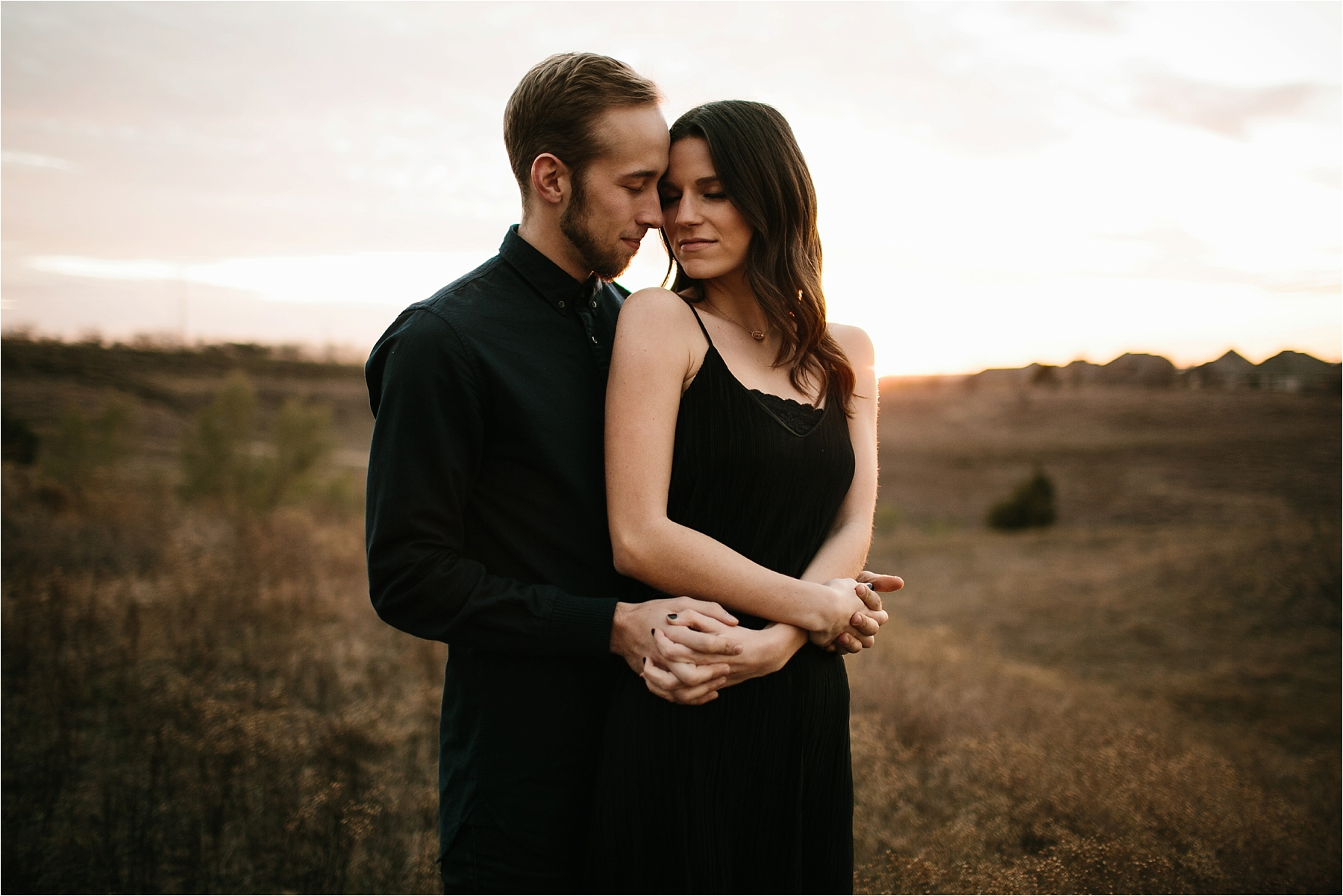 Trey + Phoebe __ a playful, intimate engagement session with dark_neutral outfit inspiration by North Texas Wedding Photographer Rachel Meagan Photography __ 56