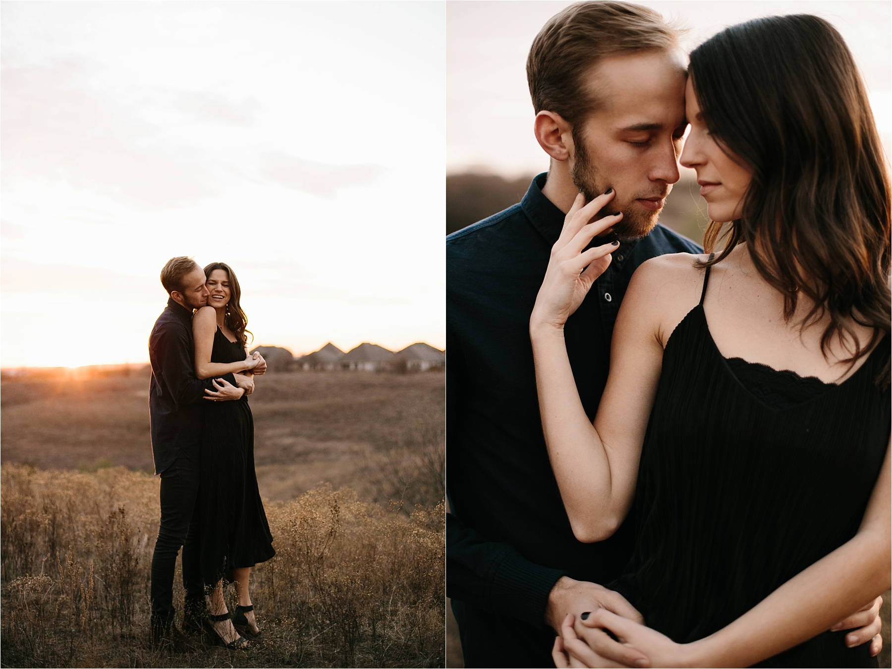 Trey + Phoebe __ a playful, intimate engagement session with dark_neutral outfit inspiration by North Texas Wedding Photographer Rachel Meagan Photography __ 58
