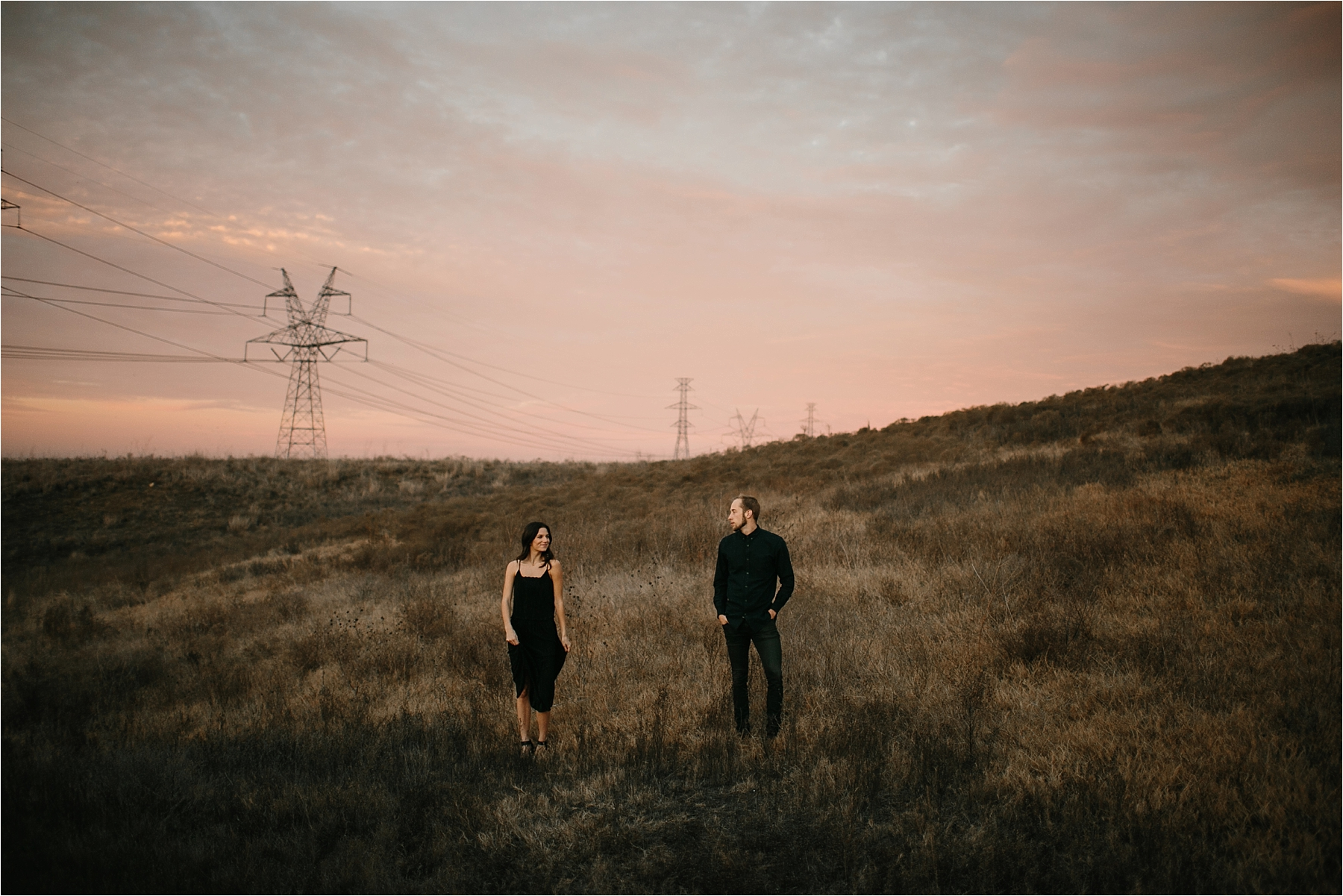 Trey + Phoebe __ a playful, intimate engagement session with dark_neutral outfit inspiration by North Texas Wedding Photographer Rachel Meagan Photography __ 60