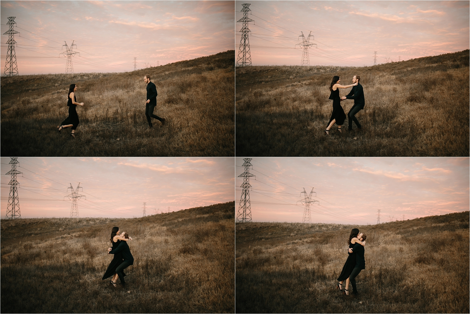 Trey + Phoebe __ a playful, intimate engagement session with dark_neutral outfit inspiration by North Texas Wedding Photographer Rachel Meagan Photography __ 61