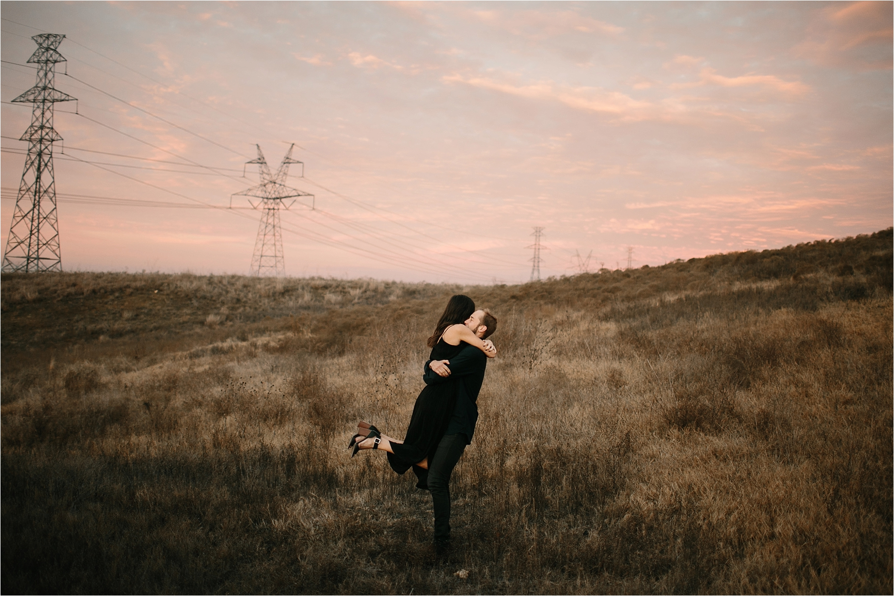 Trey + Phoebe __ a playful, intimate engagement session with dark_neutral outfit inspiration by North Texas Wedding Photographer Rachel Meagan Photography __ 62