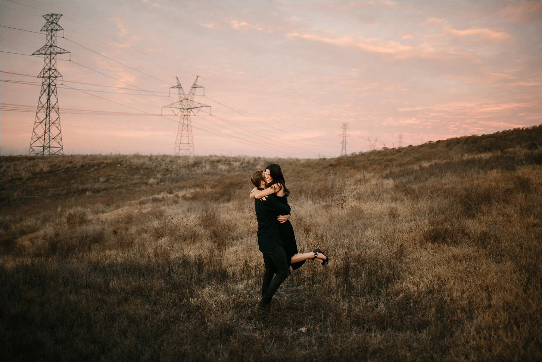 Trey + Phoebe __ a playful, intimate engagement session with dark_neutral outfit inspiration by North Texas Wedding Photographer Rachel Meagan Photography __ 63