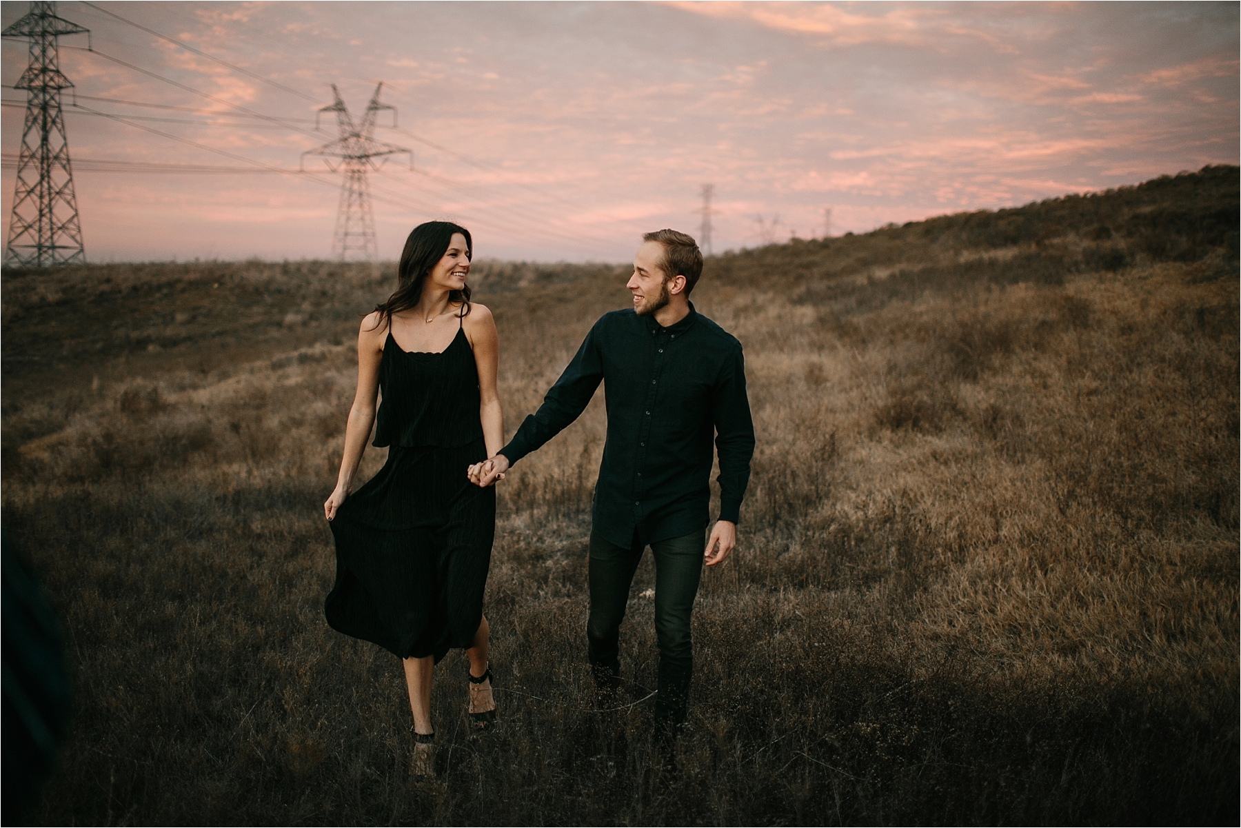 Trey + Phoebe __ a playful, intimate engagement session with dark_neutral outfit inspiration by North Texas Wedding Photographer Rachel Meagan Photography __ 64