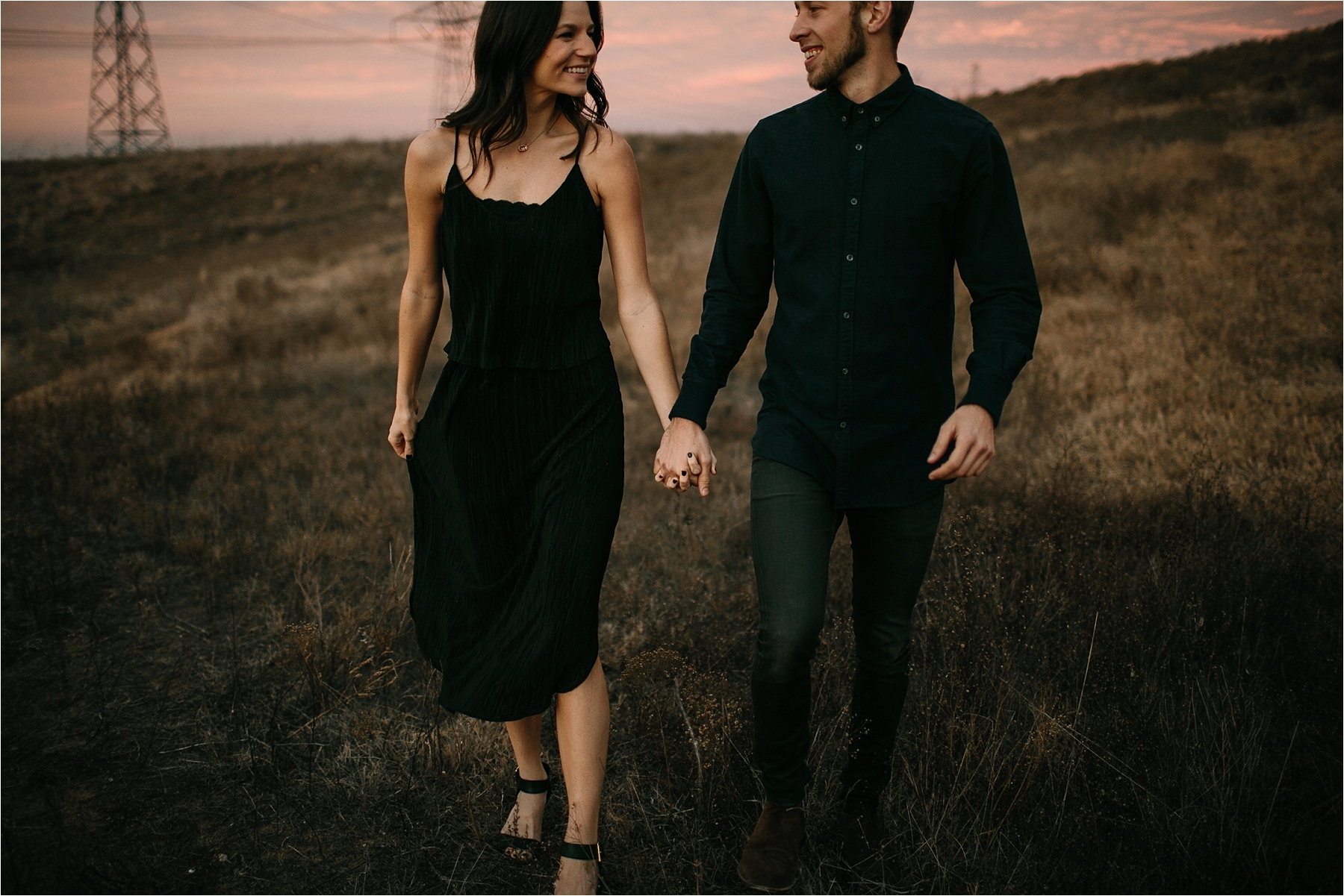 Trey + Phoebe __ a playful, intimate engagement session with dark_neutral outfit inspiration by North Texas Wedding Photographer Rachel Meagan Photography __ 65