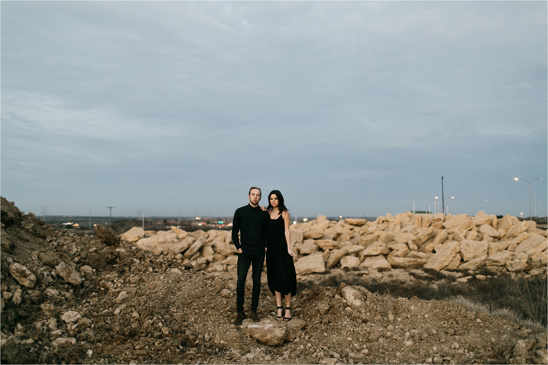 Trey + Phoebe __ a playful, intimate engagement session with dark_neutral outfit inspiration by North Texas Wedding Photographer Rachel Meagan Photography __ 69
