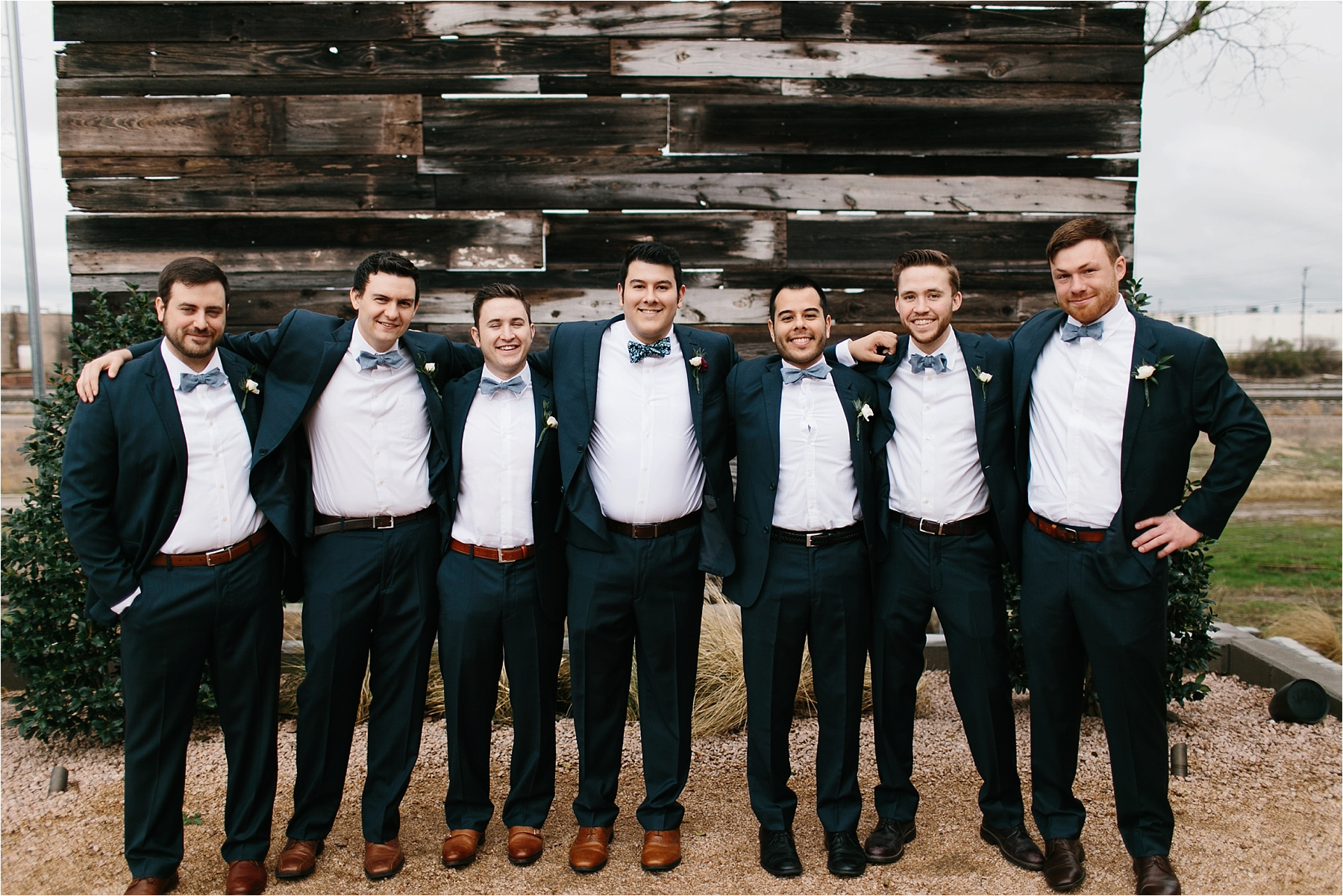 an organic, romantic, whimsical wedding at Brik Venue with Blue Grey, Burgandy, and pops of navy gold + white accents by North Texas Wedding Photographer Rachel Meagan Photography __ 233