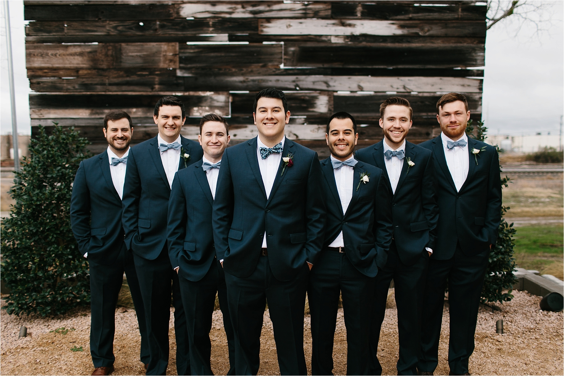 an organic, romantic, whimsical wedding at Brik Venue with Blue Grey, Burgandy, and pops of navy gold + white accents by North Texas Wedding Photographer Rachel Meagan Photography __ 237