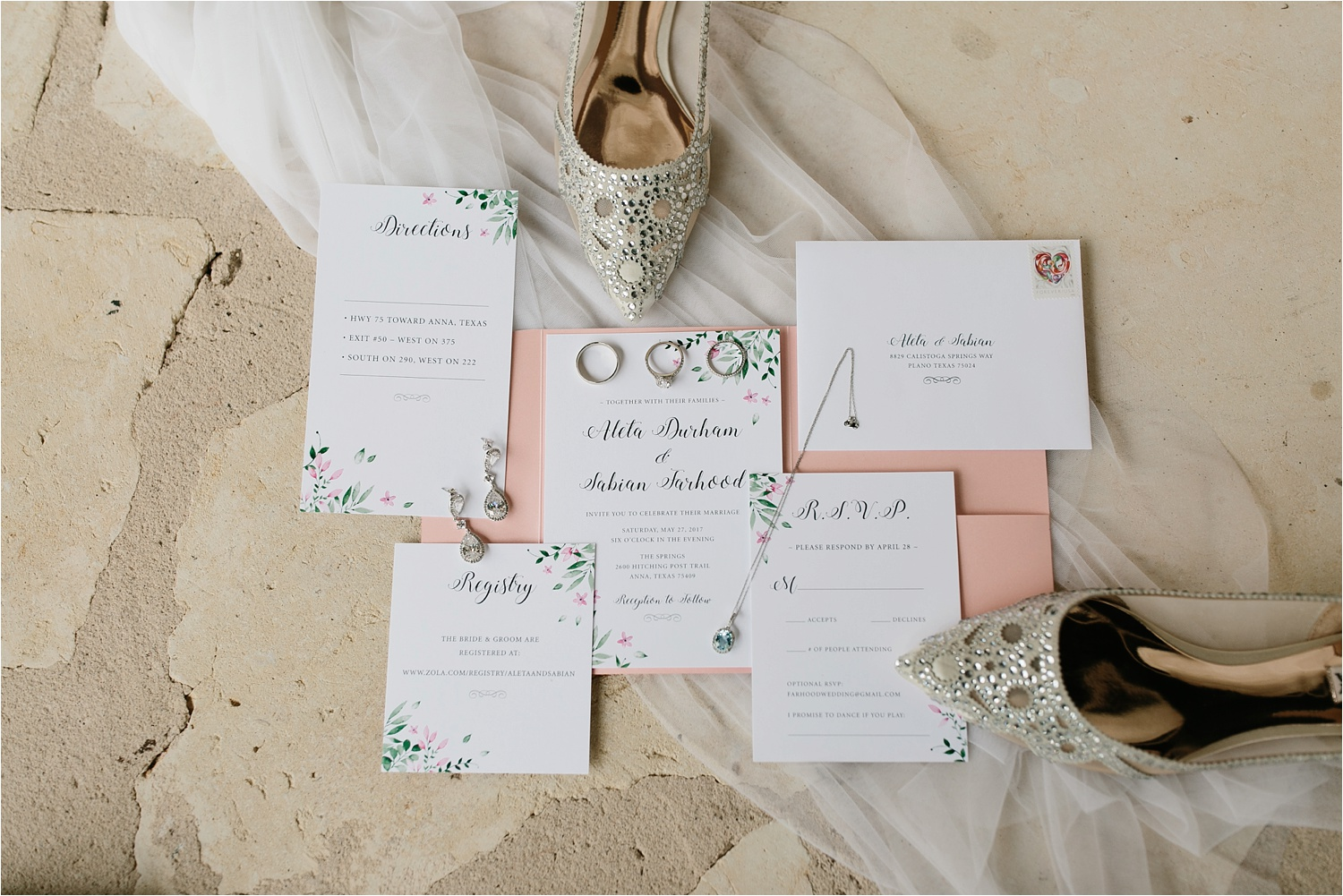 Aleta + Sabian a blush pink and navy blue wedding at The Springs in Anna, TX by North Texas Wedding Photographer _ Rachel Meagan Photography _ 003