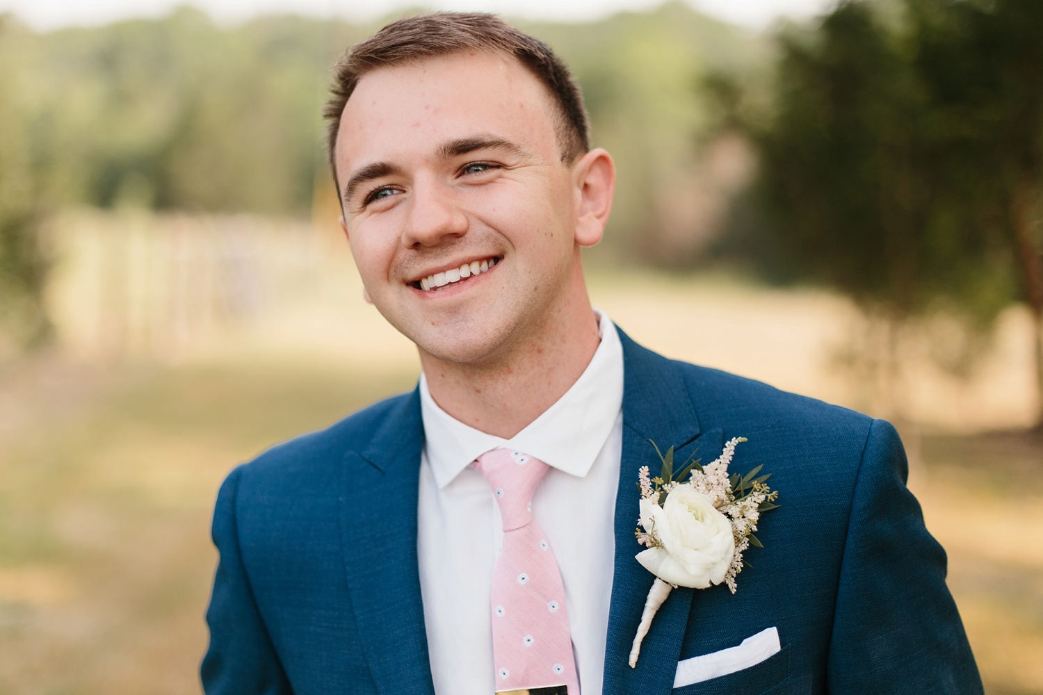 Aleta + Sabian a blush pink and navy blue wedding at The Springs in Anna, TX by North Texas Wedding Photographer _ Rachel Meagan Photography _ 042