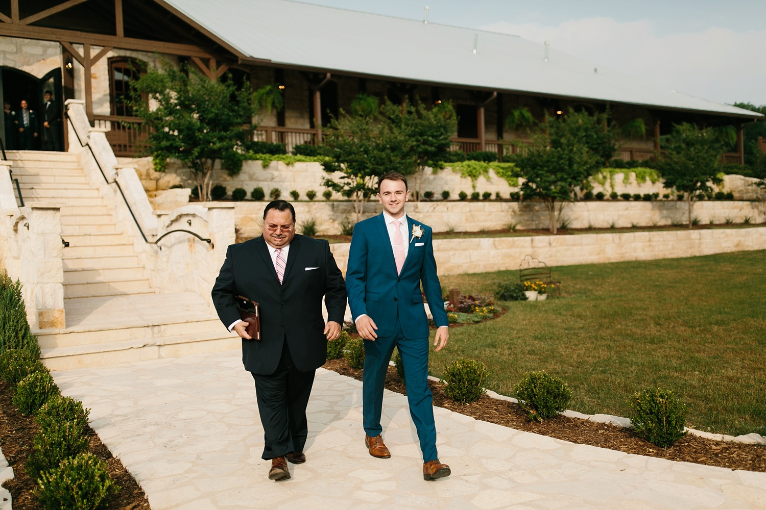 Aleta + Sabian a blush pink and navy blue wedding at The Springs in Anna, TX by North Texas Wedding Photographer _ Rachel Meagan Photography _ 045