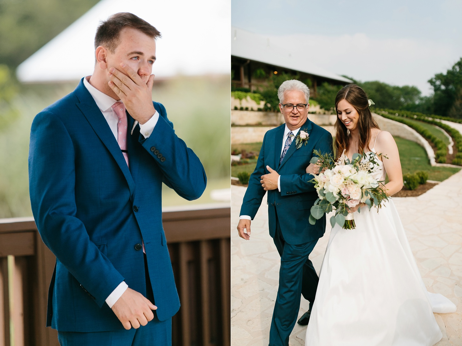 Aleta + Sabian a blush pink and navy blue wedding at The Springs in Anna, TX by North Texas Wedding Photographer _ Rachel Meagan Photography _ 048